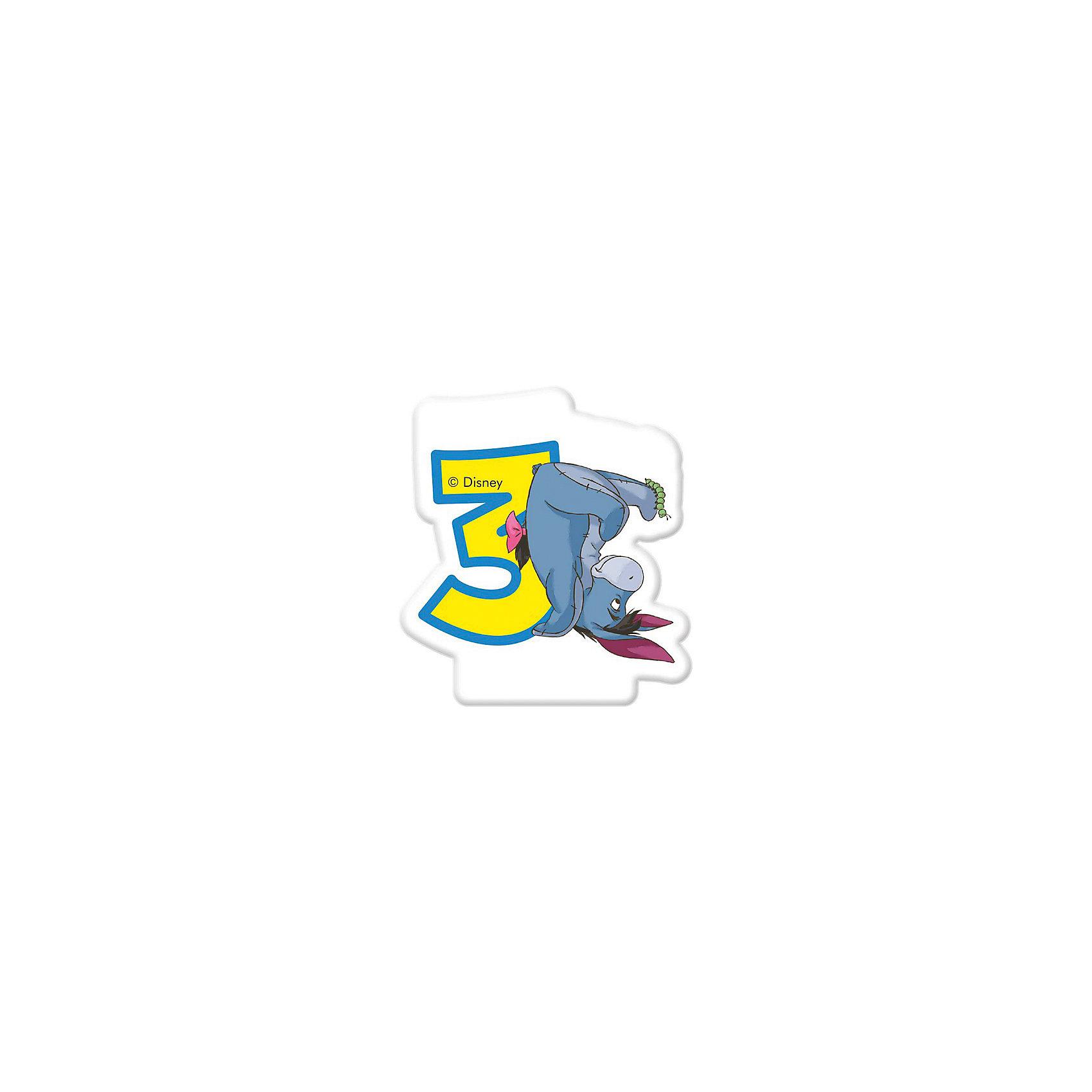 Procos Объемная свечка Винни 3 годаВинни Пух Дисней<br>Объемная свечка в форме цифры, с изображением любимого героя - используется в оформлениях кондитерских изделий!<br><br>Ширина мм: 85<br>Глубина мм: 35<br>Высота мм: 130<br>Вес г: 33<br>Возраст от месяцев: 36<br>Возраст до месяцев: 168<br>Пол: Унисекс<br>Возраст: Детский<br>SKU: 2431262