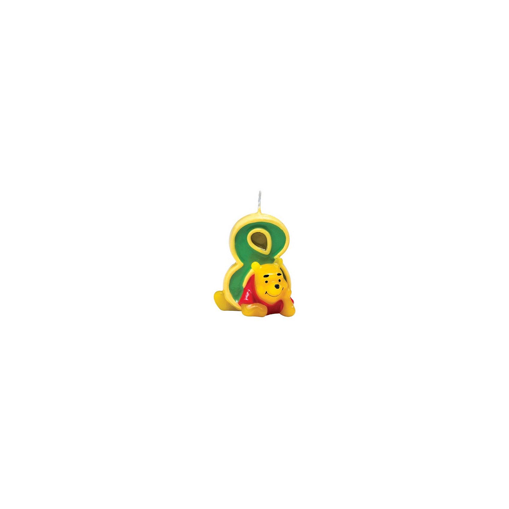 Procos Объемная свечка Винни 8 летВинни Пух Дисней<br>Объемная свечка в форме цифры, с изображением любимого героя - используется в оформлениях кондитерских изделий!<br><br>Ширина мм: 85<br>Глубина мм: 35<br>Высота мм: 130<br>Вес г: 33<br>Возраст от месяцев: 36<br>Возраст до месяцев: 168<br>Пол: Унисекс<br>Возраст: Детский<br>SKU: 2431265
