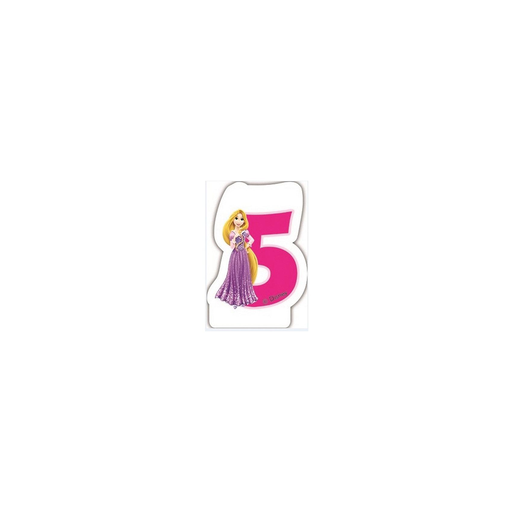 Procos Объемная свечка Принцессы 5 летОбъемная свечка в форме цифры, с изображением любимого героя - используется в оформлениях кондитерских изделий!<br><br>Ширина мм: 85<br>Глубина мм: 35<br>Высота мм: 130<br>Вес г: 33<br>Возраст от месяцев: 36<br>Возраст до месяцев: 168<br>Пол: Женский<br>Возраст: Детский<br>SKU: 2431269
