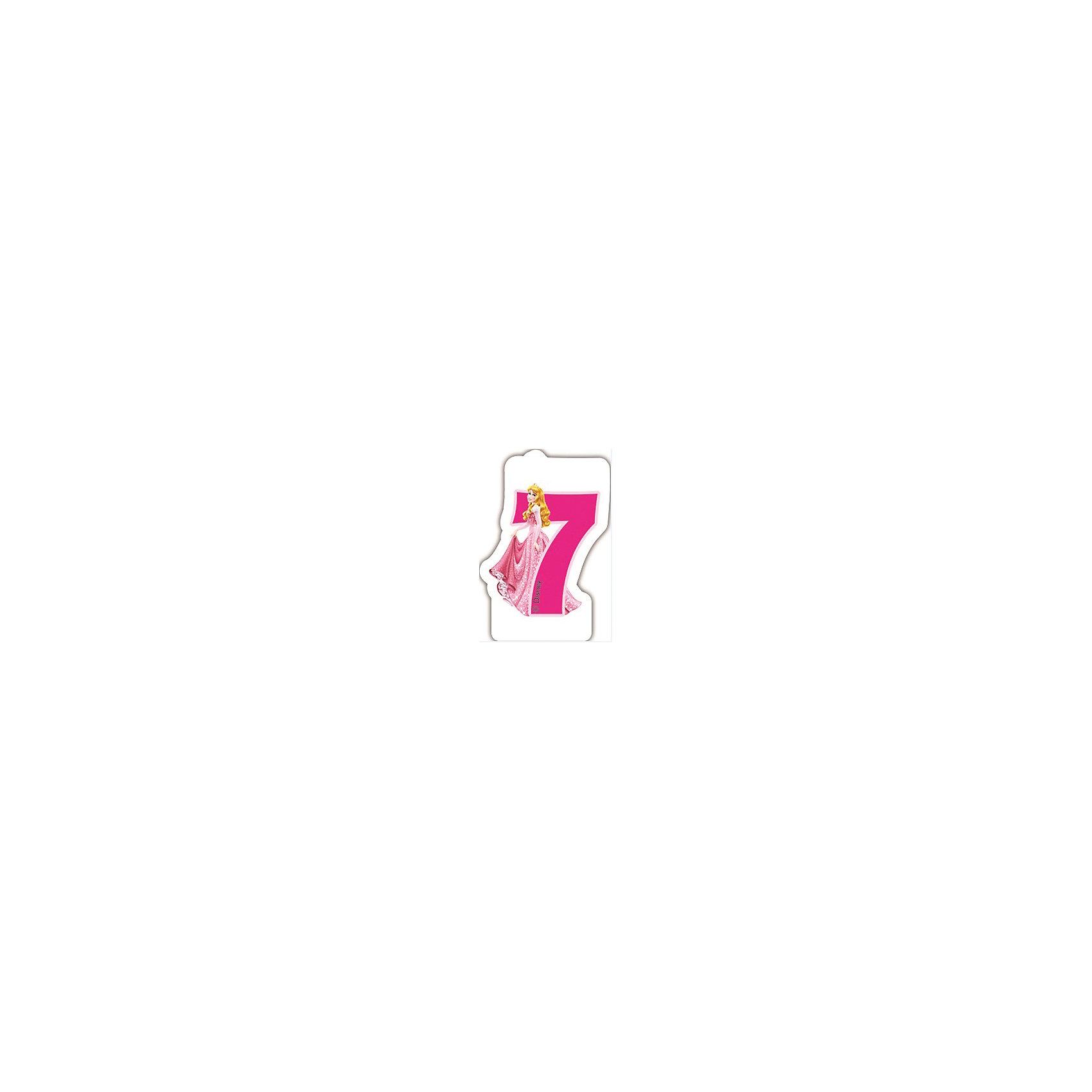 Procos Объемная свечка Принцессы 7 летОбъемная свечка в форме цифры, с изображением любимого героя - используется в оформлениях кондитерских изделий!<br><br>Ширина мм: 85<br>Глубина мм: 35<br>Высота мм: 130<br>Вес г: 33<br>Возраст от месяцев: 36<br>Возраст до месяцев: 168<br>Пол: Женский<br>Возраст: Детский<br>SKU: 2431271