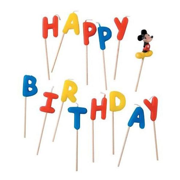 Procos Свечи-буквы Микки Маус Happy BirthdayДетские свечи для торта<br>Чудесные свечи для украшения празднчного торта позволят сделать праздник веселым. Ваш малыш будет рад увидеть на праздничном торте любимых героев!<br>Ширина мм: 130; Глубина мм: 20; Высота мм: 180; Вес г: 125; Возраст от месяцев: 36; Возраст до месяцев: 168; Пол: Унисекс; Возраст: Детский; SKU: 2431278;
