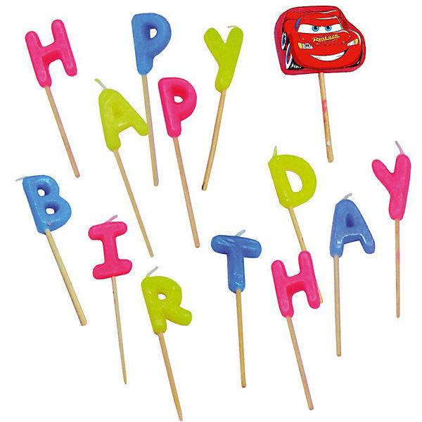 Свечи-буквы Happy Birthday, ТачкиТачки<br>Такая мелочь, как свечка , позволит сделать праздник веселелым.<br>Дизайн: Тачки (Cars)<br><br>Ширина мм: 179<br>Глубина мм: 127<br>Высота мм: 24<br>Вес г: 38<br>Возраст от месяцев: 36<br>Возраст до месяцев: 96<br>Пол: Мужской<br>Возраст: Детский<br>SKU: 2431281