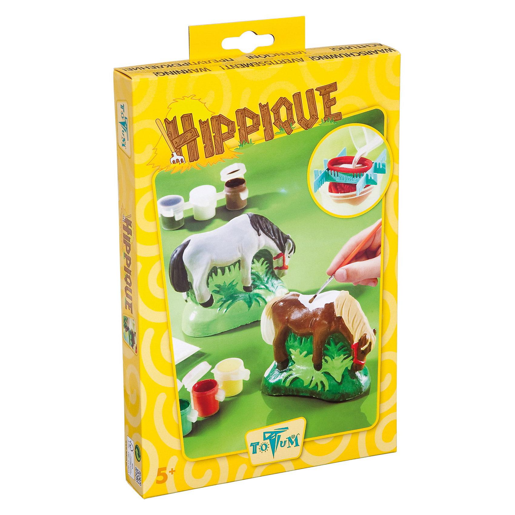 Набор для творчества HIPPIQUEРисование<br>Hippique - это набор для творчества, который даст возможность вашему чаду проявить свою фантазию и развить мелкую моторику рук, а также научит усидчивости и терпению. С помощью гипса и формы, которые входят в набор, ребенок может создать милую маленькую лошадку. Потом уже ее можно украшать по своему усмотрению. Для этого в набор входят краски и специальные кисти к ней. Ребенку непременно понравится этот набор и он с у довольствием будет с ним играть. Комплектация набора: гипс, лопатка, форма, инструкция. Возраст: 5+<br><br>Ширина мм: 276<br>Глубина мм: 185<br>Высота мм: 40<br>Вес г: 464<br>Возраст от месяцев: 60<br>Возраст до месяцев: 144<br>Пол: Унисекс<br>Возраст: Детский<br>SKU: 2431504