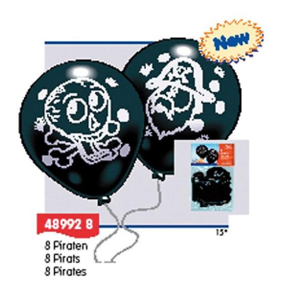 Everts 8 шариков ПиратыВоздушные шары<br>В комплектк - 8 шариков с изображениями пиратов. Шарики сделаны из безопасных материалов, поэтому играть в них можно с рождения. Надувание шариков способствует развитию дыхательной системы человека, а созерцание развивает эстетическое восприятие.<br><br>Ширина мм: 150<br>Глубина мм: 230<br>Высота мм: 10<br>Вес г: 55<br>Возраст от месяцев: 36<br>Возраст до месяцев: 1188<br>Пол: Мужской<br>Возраст: Детский<br>SKU: 2433018