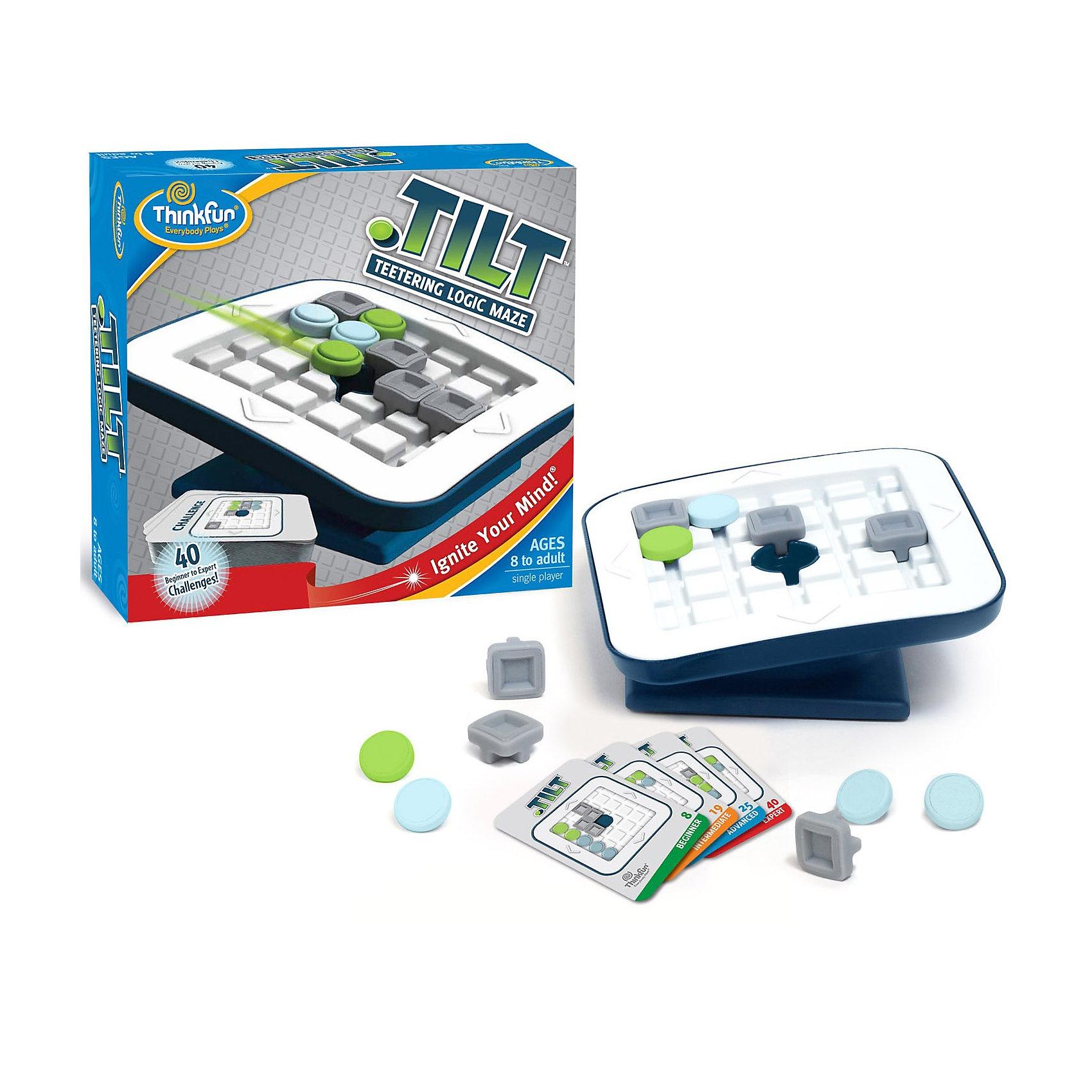 Настольная игра Скользящие фишки, ThinkfunНастольная игра Скользящие фишки от Thinkfun. <br><br>Цель игры: добиться того, чтобы зеленые фишки провалились в лунку в середине игрового поля, при этом, не допустить падения в лунку синих фишек.<br><br>Подготовка: разместите элементы игры на поле как показано на карточке с заданием.<br>Существует три типа элементов:<br>- Квадратные серые блоки будут находиться на своих местах в течение всей игры.<br>- Круглые синие фишки будут скользить по полю.<br>- Круглые зеленые фишки будут скользить по полю.<br><br>Как играть:<br>- Наклоняйте игровое поле, чтобы фишки скользили по игровому полю в сторону уклона. Все фишки должны доезжать до упора: либо до блока, либо до края поля.<br>- Когда все зеленые фишки проваляться в лунку, при этом все синие фишки останутся на поле <br>– Вы победили!<br><br>Ширина мм: 210<br>Глубина мм: 230<br>Высота мм: 70<br>Вес г: 340<br>Возраст от месяцев: 96<br>Возраст до месяцев: 144<br>Пол: Унисекс<br>Возраст: Детский<br>SKU: 2433021