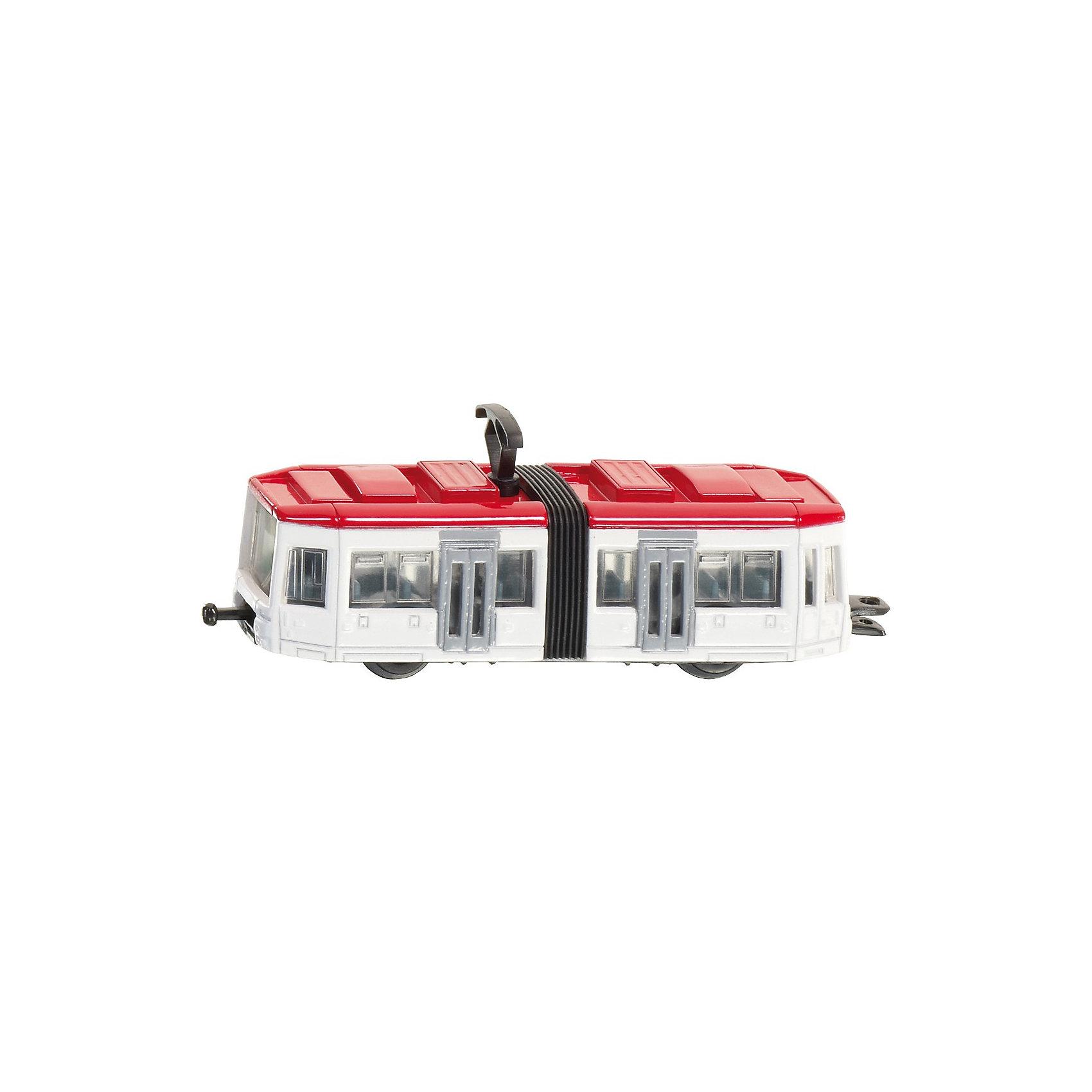 SIKU 1011 ТрамвайТрамвай, Siku, станет прекрасным пополнением коллекции юного любителя техники. Модель выполнена в масштабе 1:78 и отличается высокой степенью детализации и тщательной проработкой всех элементов. Трамвай состоит из двух частей соединенных в середине гармошкой, через прозрачные пластиковые окна хорошо просматривается салон с пассажирскими сиденьями, колеса вращаются. Корпус и колесные оси модели выполнены из металла, остальные детали изготовлены из ударопрочной пластмассы. Трамвай оснащен стандартным сцеплением, которое позволяет присоединять другие трамваи этого масштаба.   <br><br>Дополнительная информация:<br><br>- Материал: металл, пластик.<br>- Масштаб: 1:87.<br>- Размер: 8,5 x 2,1 x 3,3 см.<br>- Вес: 95 гр. <br><br> 1011 Трамвай, Siku, можно купить в нашем интернет-магазине.<br><br>Ширина мм: 95<br>Глубина мм: 78<br>Высота мм: 25<br>Вес г: 52<br>Возраст от месяцев: 36<br>Возраст до месяцев: 96<br>Пол: Мужской<br>Возраст: Детский<br>SKU: 2437464