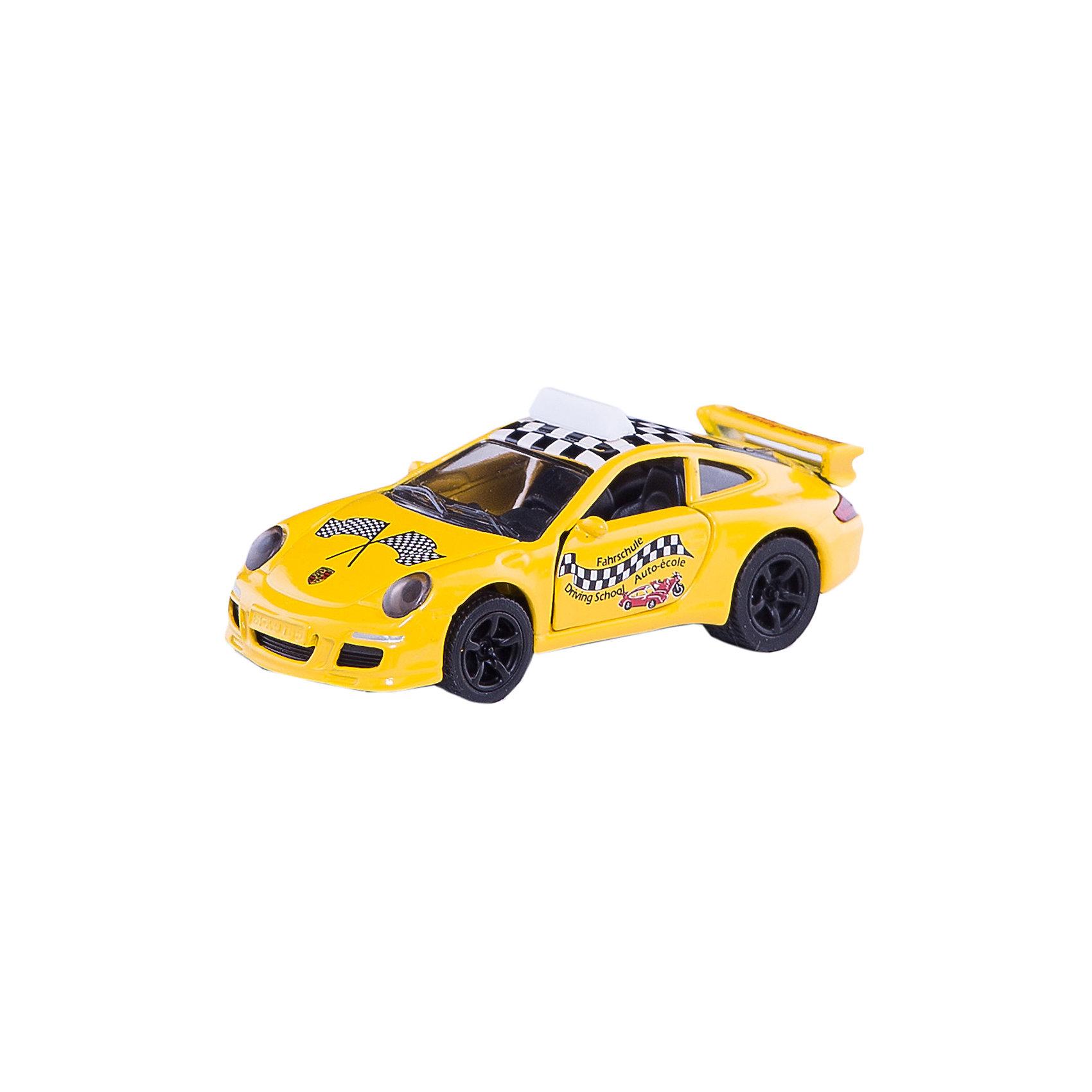 Порше 911 Автошкола, SIKUКоллекционные модели<br>Автомобиль мечты для практических занятий в автошколе марки Porsche 911. Тренировочная машина оснащена задним спойлером, мощными спортивными колесными дисками с широкими шинами для лучшего сцепления с дорогой.<br><br>Дополнительная информация:<br><br>Размеры: 7,9 x 3,4 x 2,8 см<br><br>Порше 911 (Porsche) Автошкола 1457 можно купить в нашем магазине.<br><br>Ширина мм: 97<br>Глубина мм: 78<br>Высота мм: 35<br>Вес г: 54<br>Возраст от месяцев: 36<br>Возраст до месяцев: 96<br>Пол: Мужской<br>Возраст: Детский<br>SKU: 2437471