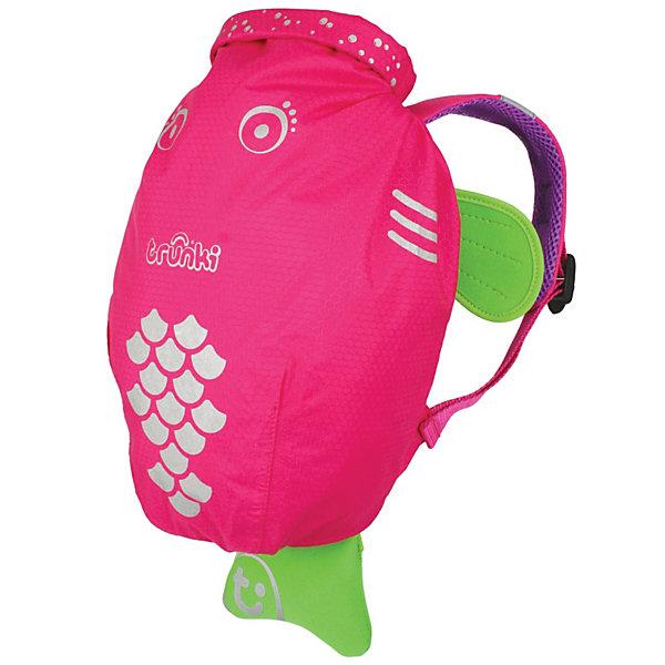 Розовый рюкзак для бассейна и пляжаДорожные сумки и чемоданы<br>Водоотталкивающий рюкзак Trunki Транки розового цвета для маленьких исследователей. Рюкзак сделан из легкого и прочного материала, он прекрасно защищен от влаги и грязи. <br>Рюкзак для бассейна и пляжа оснащен специальным креплением Trunki, с помощью него можно крепить к сумке солнцезащитные очки. Рюкзак имеет светоотражающую отделку, а также карман в виде плавника, куда можно положить различные мелочи.  <br>Рюкзак Trunki – незаменимый аксессуар для девочки для походов в бассейн или на пляж. <br>Размер рюкзака: 49,5 х 41 см<br>Ширина мм: 336; Глубина мм: 177; Высота мм: 95; Вес г: 186; Возраст от месяцев: 72; Возраст до месяцев: 60; Пол: Мужской; Возраст: Детский; SKU: 2442101;