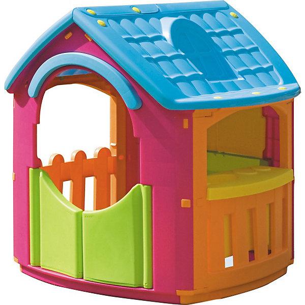 PalPlay Домик - КухняДомики и мебель<br>Marianplast Домик – Кухня - очень интересный и уютный домик с кухонными аксессуарами для детей от 1,5 лет.<br><br>Домик устойчив, легко собирается без использования инструментов — детали соединяются и закрепляются специальными пластиковыми гайками, которые входят в комплект.<br>Игровой домик Marian Plast изготовлен из яркого, прочного, нетоксичного пластика, устойчивого к выцветанию и воздействию влаги, с соблюдением европейского стандарта качества и безопасности для детских товаров..<br>Вход с двумя дверками.<br>Три больших окошка в доме, одно со ставенками, и два на террасе.<br><br>Дополнительная информация:<br> <br>- Размер домика: 101x105x110.5 см<br>- Размер упаковки 114x92x33 см.<br>- Вес: 13,77 кг, с упаковкой 16,65 кг.<br>- Материал: высокопрочный пластик<br><br>Домик развивает воображение ребенка. Яркий и красочный, он обязательно понравится вашему ребенку!<br><br>Ширина мм: 1010<br>Глубина мм: 1050<br>Высота мм: 1105<br>Вес г: 17030<br>Возраст от месяцев: 18<br>Возраст до месяцев: 144<br>Пол: Унисекс<br>Возраст: Детский<br>SKU: 2442783