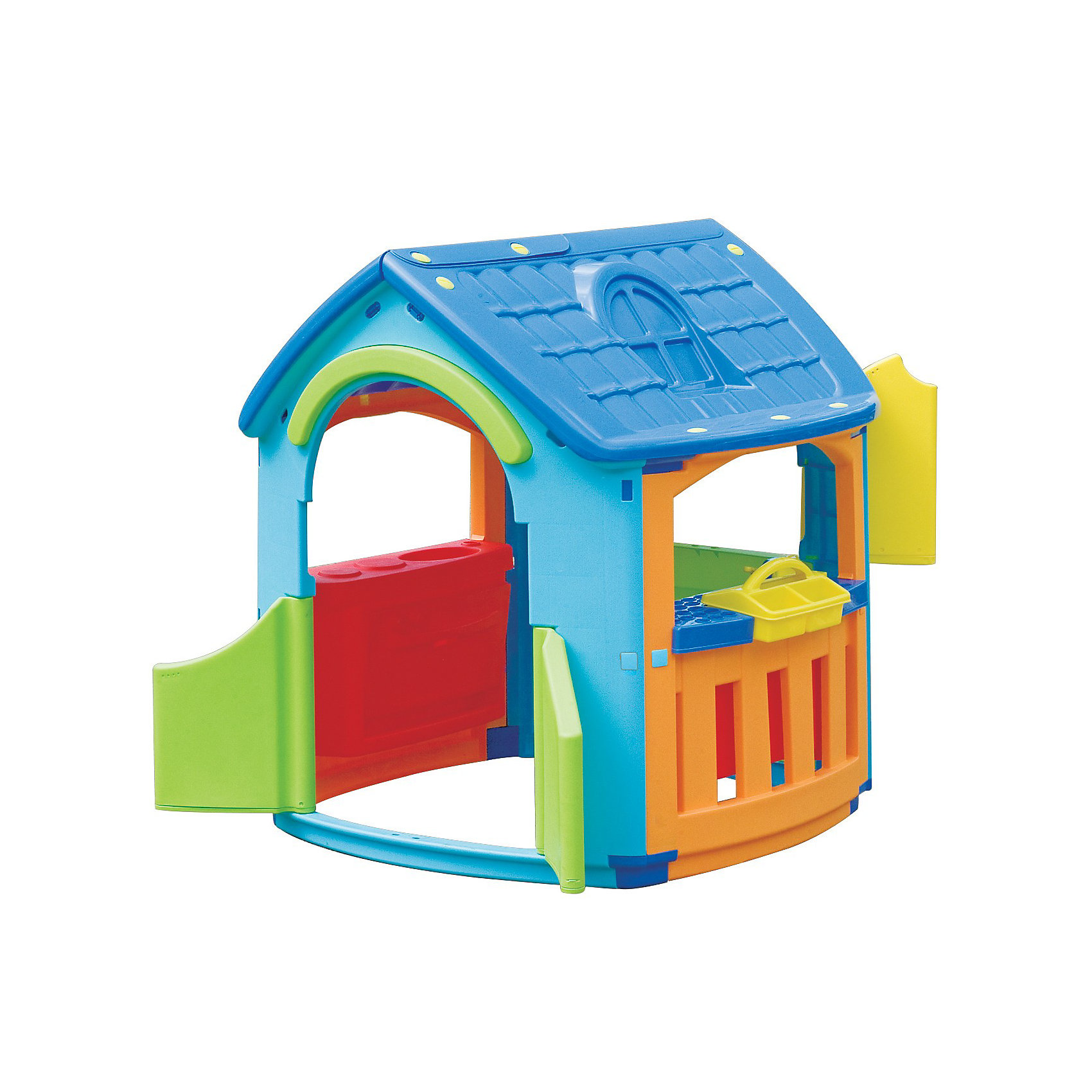 Marianplast Домик - Кухня - МастерскаяЧудесный игровой домик Marian Plast, сочетающий в себе кухню и мастерскую, понравится как мальчикам, так и  девочкам, подходит для детей от 2 лет,как для закрытого помещения, так и для улицы.<br><br>Домик быстро и легко собирается, выполнен из гипоаллергенного пластика, устойчивого к выцветанию с соблюдением Европейских стандартов качества для детских товаров.  <br>Специальные инструменты для сборки не требуются. Отдельные детали крепятся между собой при помощи пластиковых гаек, которые входят в комплект. Конструкция домика Marian Plast  Кухня Мастерская очень надежная и устойчивая.<br>Домик выполнен из приятного шероховатого пластика.<br>Распашные дверки открываются в любую сторону, в закрытом состоянии одна створка фиксируется снизу. Из трех окошек на террасе одно имеет ставенки, которые так же фиксируются в закрытом состоянии.<br><br>Дополнительная информация:<br><br>- Размер домика: 101x108x110.5 см <br>- Размер упаковки 114x92x33 см <br>- Вес: 15,13 кг, с упаковкой 18,01 кг<br><br> В этом домике ваш малыш не только будет увлеченно играть, но и сможет принимать гостей. Комплекс стимулирует малыша к движению, развивает воображение и стратегическое мышление.<br><br>Ширина мм: 1010<br>Глубина мм: 1080<br>Высота мм: 1105<br>Вес г: 17980<br>Возраст от месяцев: 18<br>Возраст до месяцев: 144<br>Пол: Унисекс<br>Возраст: Детский<br>SKU: 2442784