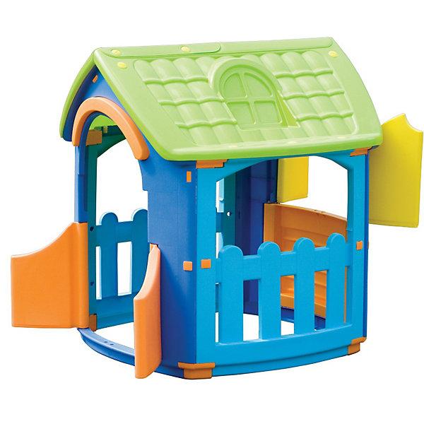 PalPlay Домик разборныйДомики и мебель<br>Пластиковый игровой разборный домик от Marian Plast идеален для летнего отдыха на даче и подходит для игры, как в помещении, так и на свежем воздухе.<br><br>Это одна из самых популярных моделей — яркая и компактная, устойчивая и надежная. <br>В домике вход с двумя дверками, три больших окошка: одно со ставенками и два на террасе.<br>Домик легко собирается без использования инструментов, детали соединяются и закрепляются специальными пластиковыми гайками, которые входят в комплект.<br>Пластиковый игровой разборный домик Marian Plast сделан из современных нетоксичных материалов с соблюдением европейского стандарта качества и безопасности.<br><br>Дополнительная информация:<br>- Габариты: 101x105x110,5 см <br>- Вес: 12.47 кг.<br><br>  В этом домике ваш малыш не только будет увлеченно играть, но и сможет принимать гостей. Домик стимулирует малыша к движению, развивает воображение и стратегическое мышление.<br>Ширина мм: 1010; Глубина мм: 1050; Высота мм: 1105; Вес г: 15500; Возраст от месяцев: 18; Возраст до месяцев: 144; Пол: Унисекс; Возраст: Детский; SKU: 2442785;