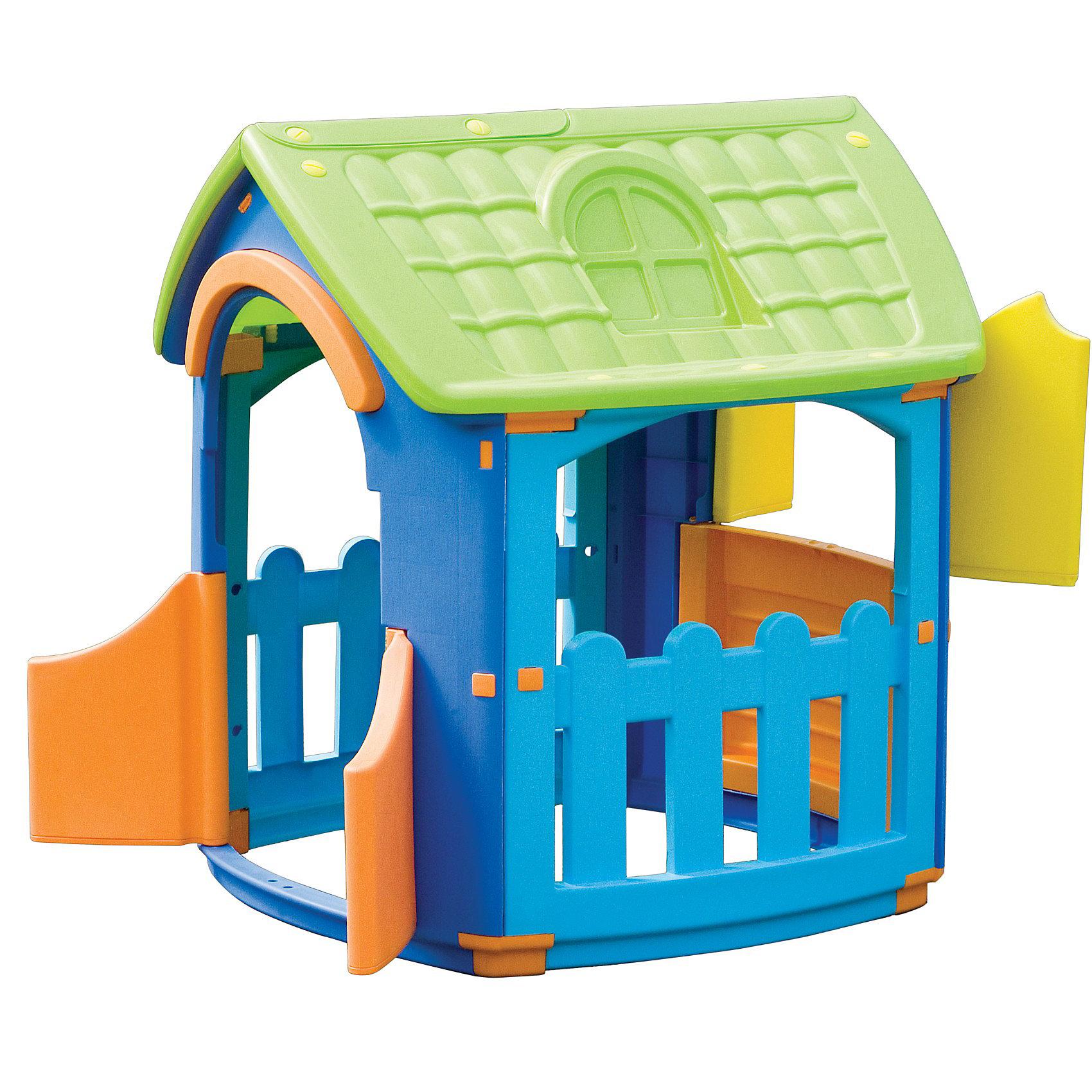 Marianplast Домик разборныйДомики и мебель<br>Пластиковый игровой разборный домик от Marian Plast идеален для летнего отдыха на даче и подходит для игры, как в помещении, так и на свежем воздухе.<br><br>Это одна из самых популярных моделей — яркая и компактная, устойчивая и надежная. <br>В домике вход с двумя дверками, три больших окошка: одно со ставенками и два на террасе.<br>Домик легко собирается без использования инструментов, детали соединяются и закрепляются специальными пластиковыми гайками, которые входят в комплект.<br>Пластиковый игровой разборный домик Marian Plast сделан из современных нетоксичных материалов с соблюдением европейского стандарта качества и безопасности.<br><br>Дополнительная информация:<br>- Габариты: 101x105x110,5 см <br>- Вес: 12.47 кг.<br><br>  В этом домике ваш малыш не только будет увлеченно играть, но и сможет принимать гостей. Домик стимулирует малыша к движению, развивает воображение и стратегическое мышление.<br><br>Ширина мм: 1010<br>Глубина мм: 1050<br>Высота мм: 1105<br>Вес г: 15500<br>Возраст от месяцев: 18<br>Возраст до месяцев: 144<br>Пол: Унисекс<br>Возраст: Детский<br>SKU: 2442785