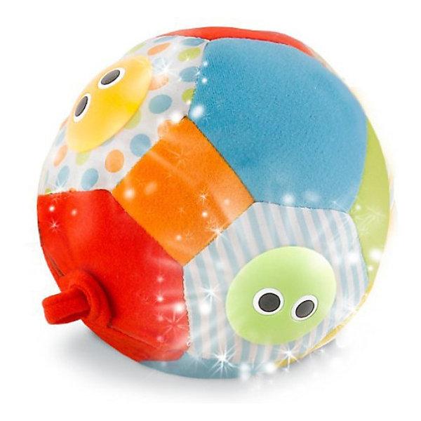 Yookidoo Музыкальный мячМузыкальные мягкие игрушки<br>Yookidoo Музыкальный мяч- мягкий мяч с цветными пластиковыми личиками с большими глазками. При катании или подбрасывании раздаются забавные звуки, играет музыка, а под личиками мигают огоньки. Мяч привлекает внимание, побуждает ребенка двигаться, развивает слуховые и зрительные навыки.<br><br>Мяч выполнен из лоскутов ткани различной фактуры, однотонных и с узорами. При катании или подбрасывании малыш услышит по очереди 3 различные мелодии. Звуковые эффекты сопровождаются миганием огоньков в пластиковых личиках. (Есть Включатель/ Выключатель бесшумного режима).<br><br>Дополнительная информация:<br><br>- Материал: синтетическая ткань - полиэстер, фибер, пластмасса.<br>- Размер игрушки: диаметр 13 см.<br>- Размер упаковки: 22х10х20 см.<br>- Вес: 0,3 кг.<br>- Возраст: 3 + мес.<br><br>Игрушка способствует развитию мелкой моторики пальчиков рук и тактильных ощущений у малыша, активизирует двигательную активность.<br>Yookidoo- это уникальные игрушки для малышей, тщательно разработанные, чтобы стимулировать развитие ребенка и удерживать его внимание на время игры. Этот замечательный мяч обязательно порадует вашего малыша!<br><br>Ширина мм: 220<br>Глубина мм: 210<br>Высота мм: 100<br>Вес г: 300<br>Возраст от месяцев: 1<br>Возраст до месяцев: 24<br>Пол: Унисекс<br>Возраст: Детский<br>SKU: 2442799