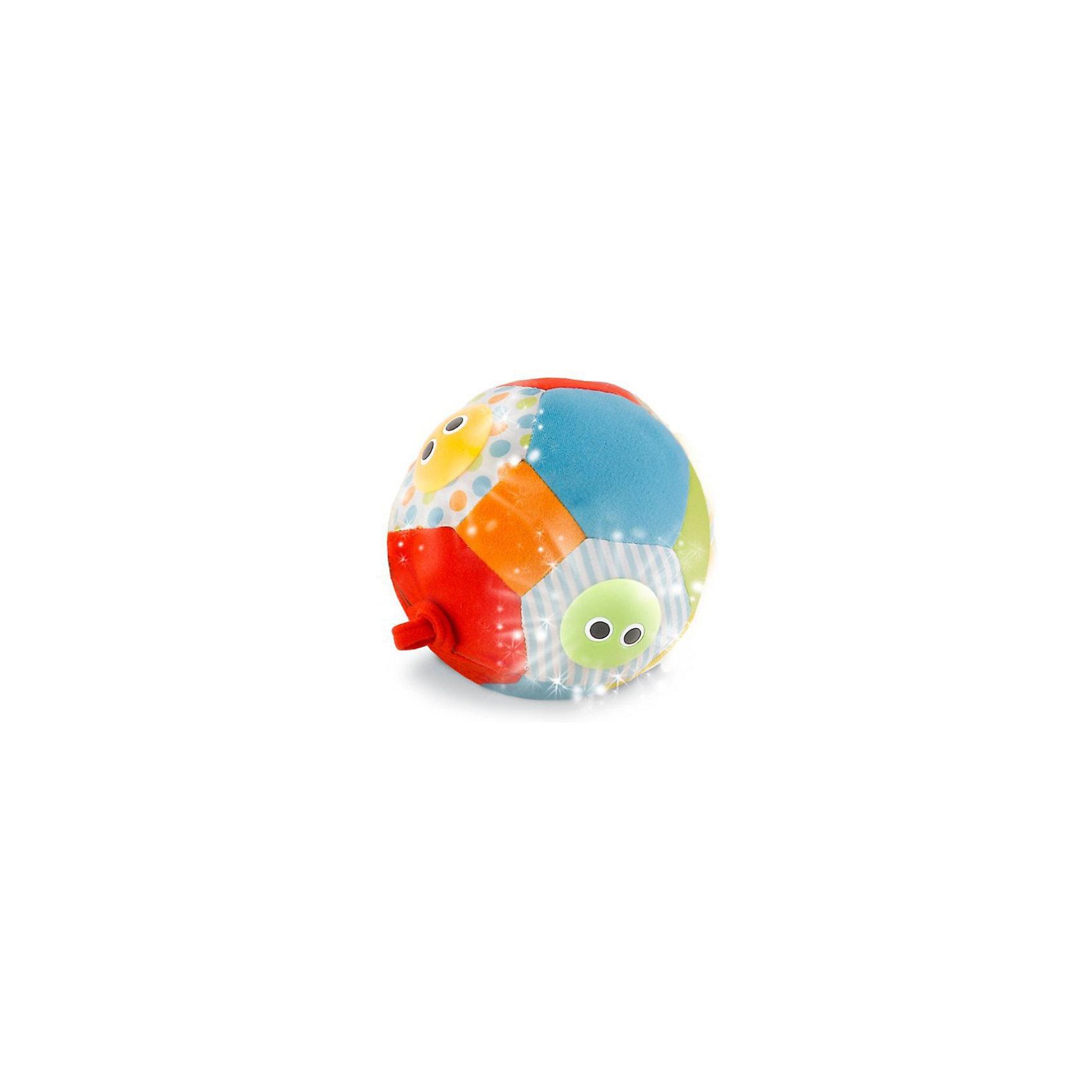 Yookidoo Музыкальный мячРазвивающие игрушки<br>Yookidoo Музыкальный мяч- мягкий мяч с цветными пластиковыми личиками с большими глазками. При катании или подбрасывании раздаются забавные звуки, играет музыка, а под личиками мигают огоньки. Мяч привлекает внимание, побуждает ребенка двигаться, развивает слуховые и зрительные навыки.<br><br>Мяч выполнен из лоскутов ткани различной фактуры, однотонных и с узорами. При катании или подбрасывании малыш услышит по очереди 3 различные мелодии. Звуковые эффекты сопровождаются миганием огоньков в пластиковых личиках. (Есть Включатель/ Выключатель бесшумного режима).<br><br>Дополнительная информация:<br><br>- Материал: синтетическая ткань - полиэстер, фибер, пластмасса.<br>- Размер игрушки: диаметр 13 см.<br>- Размер упаковки: 22х10х20 см.<br>- Вес: 0,3 кг.<br>- Возраст: 3 + мес.<br><br>Игрушка способствует развитию мелкой моторики пальчиков рук и тактильных ощущений у малыша, активизирует двигательную активность.<br>Yookidoo- это уникальные игрушки для малышей, тщательно разработанные, чтобы стимулировать развитие ребенка и удерживать его внимание на время игры. Этот замечательный мяч обязательно порадует вашего малыша!<br><br>Ширина мм: 220<br>Глубина мм: 210<br>Высота мм: 100<br>Вес г: 300<br>Возраст от месяцев: 1<br>Возраст до месяцев: 24<br>Пол: Унисекс<br>Возраст: Детский<br>SKU: 2442799
