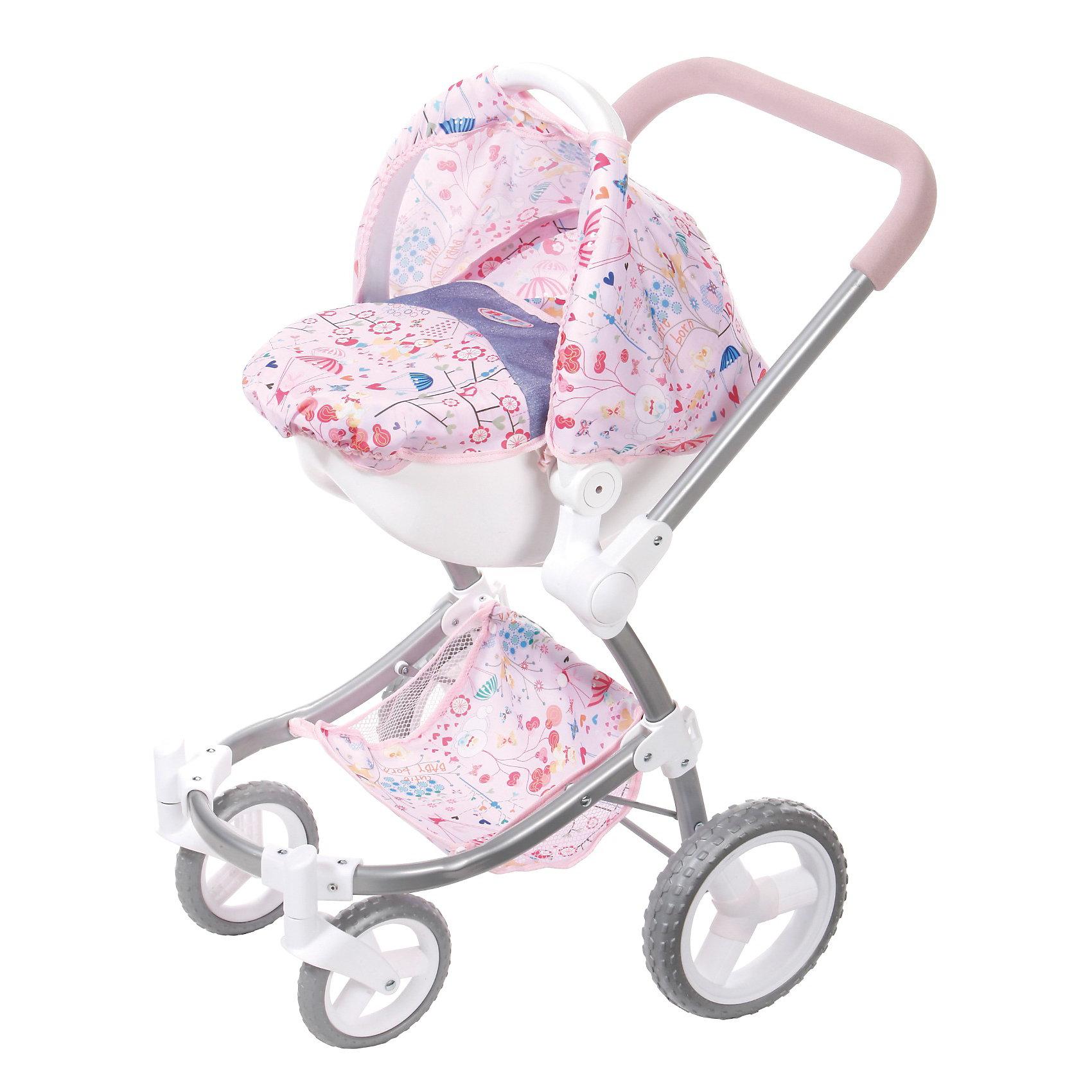 Кукольная коляска для прогулок, BABY bornКукольная коляска для прогулок, BABY born – положительные эмоции гарантированы. <br>Коляска сделана из прочного металла, благодаря которому она выдерживает большой вес и падения. Выполнена коляска в современном дизайне в нежно-розовых тонах с узорами. Козырек сделан из не промокающей ткани, а удобная ручка имеет накладку из мягкого нескользящего материала. У коляски есть корзина для вещей, что делает коляску «настоящей». Колеса сделаны из качественной прорезиненной пластмассы. Благодаря тому, что передние колеса вращаются, коляска отлично совершает маневры. Верхняя часть снимается, и ее можно использовать как переноску для куклы. Трехточечные ремни препятствуют выпадению куклы.<br><br>Дополнительная информация:<br><br>- ширина: 250 мм<br>- глубина:  608 мм<br>- высота: 482 мм<br>- вес: 1000 г<br>- возраст: 36 месяцев<br><br>Кукольную коляску для прогулок, BABY born можно купить в нашем интернет магазине.<br><br>Ширина мм: 250<br>Глубина мм: 608<br>Высота мм: 482<br>Вес г: 1000<br>Возраст от месяцев: 36<br>Возраст до месяцев: 84<br>Пол: Женский<br>Возраст: Детский<br>SKU: 2443325