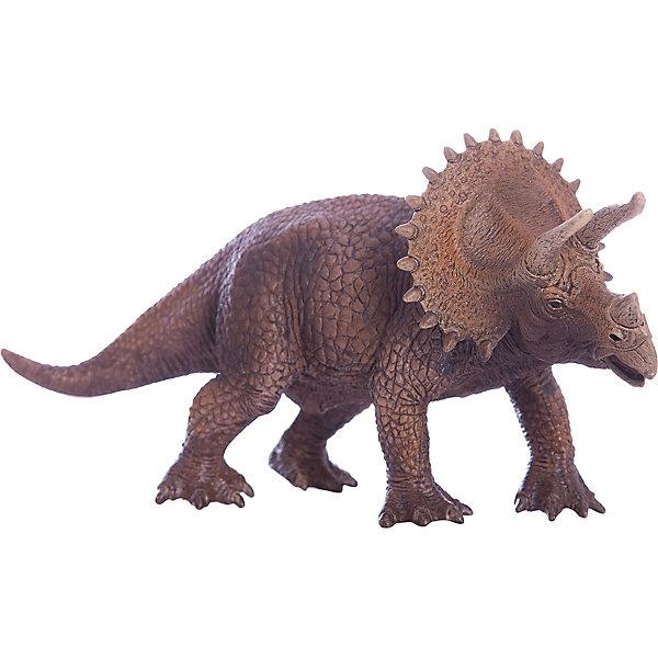 Трицераптор, SchleichМир животных<br>Трицераптор получил свое название от трех древнегреческих слов, которые переводятся на русский язык как «три», «рог», «морда, лицо». Действительно, эти животные имели три рога на голове, ходили на четырех тяжелых толстых ногах и имели хвост. Широкую известность эти динозавры получили благодаря костяному воротнику сравнительно больших размеров. До сих пор неизвестно для каких целей Трицераптор применял свои рога.<br><br>Дополнительная информация:<br><br>Материал: каучуковый пластик<br>Размеры: 20,0 ? 8,0 ? 10,5 см<br><br>Трицераптора, Schleich (Шляйх) можно купить в нашем магазине.<br>Ширина мм: 200; Глубина мм: 78; Высота мм: 64; Вес г: 278; Возраст от месяцев: 36; Возраст до месяцев: 96; Пол: Мужской; Возраст: Детский; SKU: 2445905;