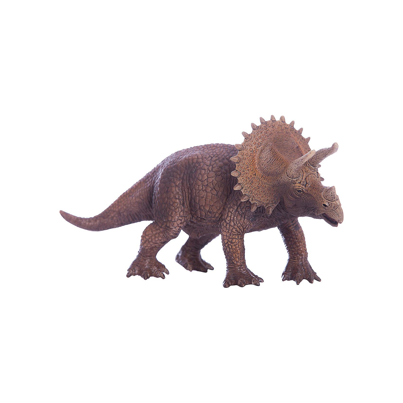 Трицераптор, SchleichМир животных<br>Трицераптор получил свое название от трех древнегреческих слов, которые переводятся на русский язык как «три», «рог», «морда, лицо». Действительно, эти животные имели три рога на голове, ходили на четырех тяжелых толстых ногах и имели хвост. Широкую известность эти динозавры получили благодаря костяному воротнику сравнительно больших размеров. До сих пор неизвестно для каких целей Трицераптор применял свои рога.<br><br>Дополнительная информация:<br><br>Материал: каучуковый пластик<br>Размеры: 20,0 ? 8,0 ? 10,5 см<br><br>Трицераптора, Schleich (Шляйх) можно купить в нашем магазине.<br><br>Ширина мм: 200<br>Глубина мм: 78<br>Высота мм: 64<br>Вес г: 278<br>Возраст от месяцев: 36<br>Возраст до месяцев: 96<br>Пол: Мужской<br>Возраст: Детский<br>SKU: 2445905