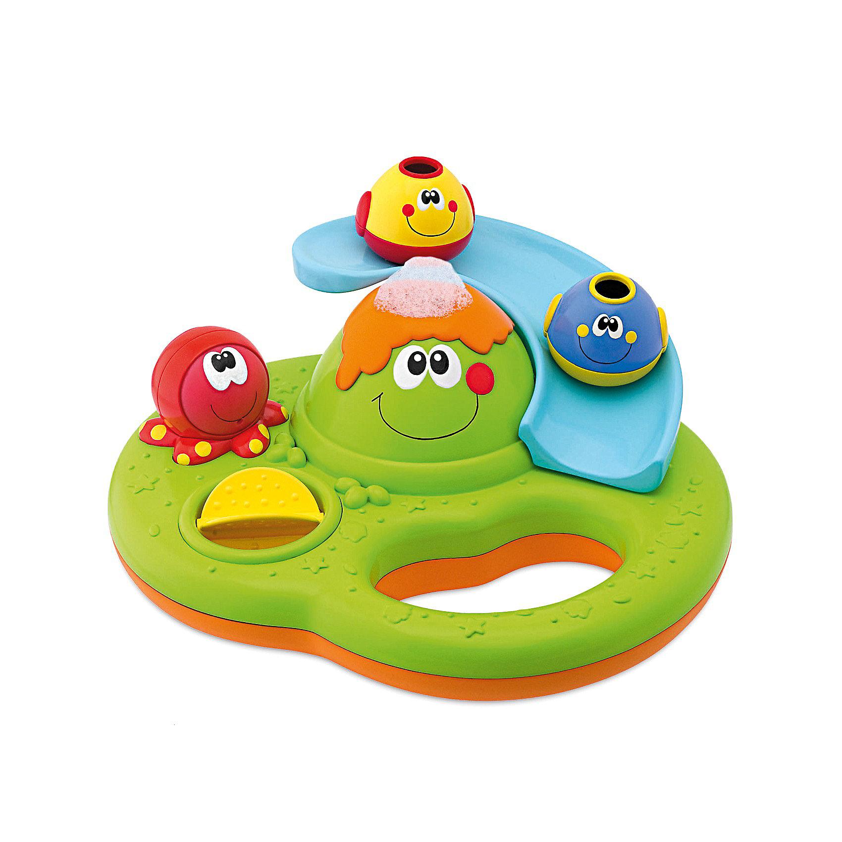 Игрушка для ванной Остров пузырьков, ChiccoИгрушки для ванной<br>Игрушка для ванны Остров пузырьков Chicco (Чико) - забавная игрушка для Вашей крохи!<br><br>Игровой центр для ванны позволяет развлечь младенцев во время купания. Игрушка включает в себя массу интересных действий: горка для двух рыбок, водяное колесо. Ребенок может нажать на осьминога, чтобы волшебные мыльные пузырьки начали вырываться из жерла вулкана.<br><br>Игрушка оснащена удобной ручкой-держателем.<br><br>Игрушку для ванны Остров пузырьков Chicco можно купить в нашем интернет-магазине.<br><br>Дополнительная информация:<br>- Материал: пластик.<br>- Размер игрушки: 23 х 18 х 8 см.<br>- Размер одной рыбки: 5 х 3,5 х 3,5 см.<br><br>Ширина мм: 257<br>Глубина мм: 218<br>Высота мм: 195<br>Вес г: 650<br>Возраст от месяцев: 6<br>Возраст до месяцев: 36<br>Пол: Унисекс<br>Возраст: Детский<br>SKU: 2450424