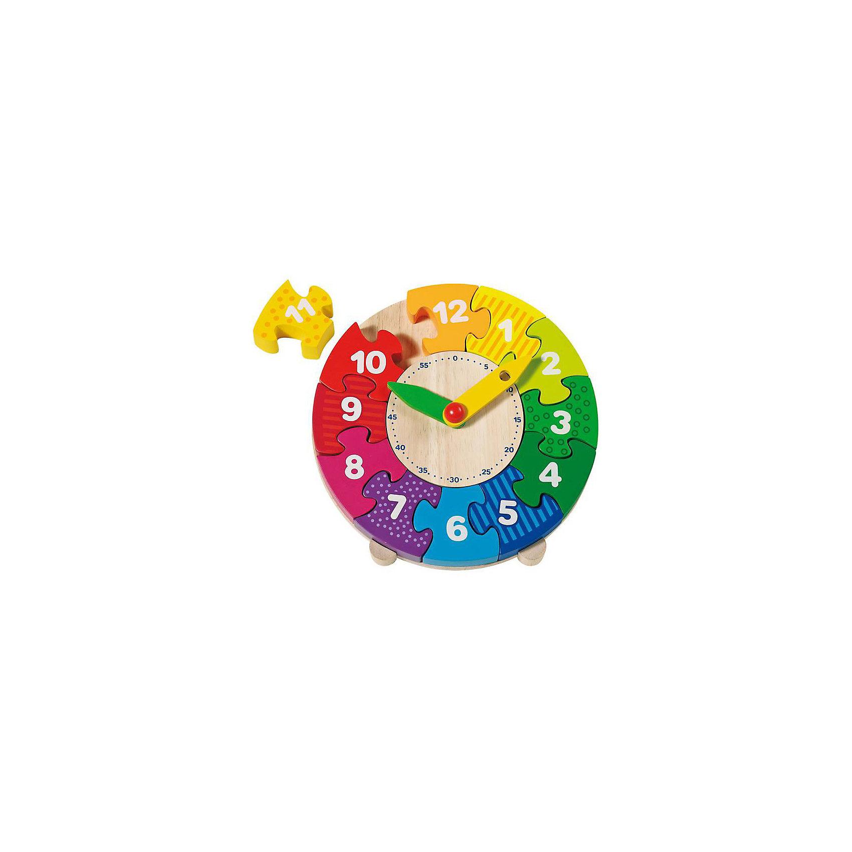 Часы-пазл I, gokiПазл-часы от одного из ведущих немецких производителей деревянных игрушек, фабрики GOLLNEST &amp; KIESEL.<br>Пазл учит цифрам, часам и цветам.<br><br>Дополнительная информация:<br><br>- Диаметр: 20 см<br>- Количество деталей: 14 штук<br>- Материал: дерево<br><br>Ширина мм: 200<br>Глубина мм: 200<br>Высота мм: 20<br>Вес г: 200<br>Возраст от месяцев: 48<br>Возраст до месяцев: 84<br>Пол: Унисекс<br>Возраст: Детский<br>SKU: 2456940