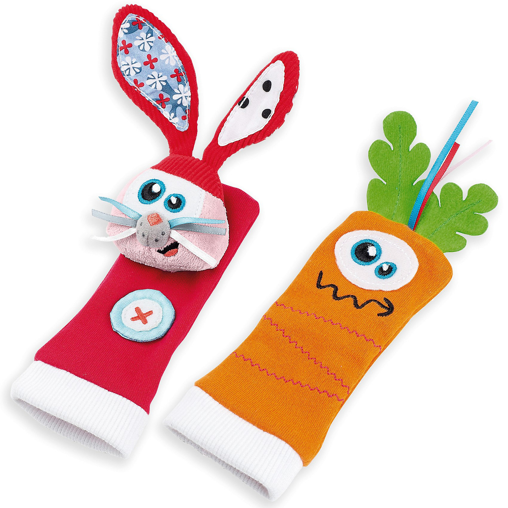 Развивающие игрушки-носочки «Зайчонок и морковка» 0+  Babymoov