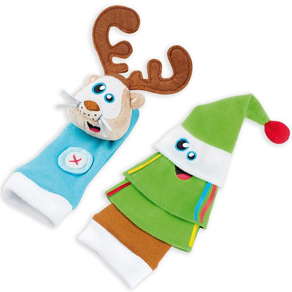 Развивающие игрушки-носочки «Олененок и елочка» 0+ BabymoovМягкие игрушки на руку<br>Развивающие игрушки-носочки «Олененок и елочка» 0+ Babymoov (Бейбимув)- это яркая красочная игрушка для вашего малыша.<br>Оригинальные разноцветные носочки развивают визуальное, слуховое и тактильное восприятие ребенка, тренируют мелкую моторику. Носочки в виде олененка и елочки изготовлены из материалов разной фактуры, имеют шуршащий и гремящий элементы. Носочки можно надеть как на ножки, так и на ручки, и тогда ребенок будет играть с ними, энергично двигая руками или ногами. Взрослые могут надеть носочки на пальцы и устроить кукольное представление или рассказать сказку на ночь.<br><br>Дополнительная информация:<br><br>- В комплекте: 2 носочка<br>- Материал: полиэстер<br>- Допускается бережная стирка при 30 °C<br>- Размер упаковки: 12 х 4,5 х 4 см.<br>- Вес: 120 гр.<br><br>Развивающие игрушки-носочки «Олененок и елочка» 0+ Babymoov (Бейбимув) можно купить в нашем интернет-магазине.<br><br>Ширина мм: 140<br>Глубина мм: 200<br>Высота мм: 50<br>Вес г: 50<br>Возраст от месяцев: 9<br>Возраст до месяцев: 48<br>Пол: Унисекс<br>Возраст: Детский<br>SKU: 2457619