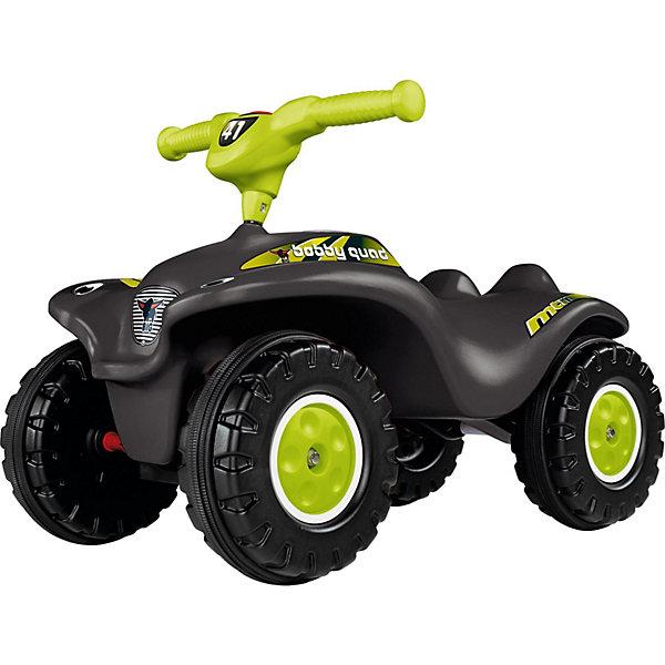 Квадроцикл Big Bobby, черныйКаталки для малышей<br>Каталка-квадроцикл   Bobby Quad Racing  позволит малышу самостоятельно ездить по ровным поверхностям. Модель оснащена механическим клаксоном, благодаря которому ребенок сможет подавать сигналы о своем приближении. Таким образом, катаясь на этом квадроцикле, малыш будет осваивать первые навыки вождения.    Игрушка изготовлена из высококачественной пластмассы и металла     материалов, которые обеспечили ей отличный запас прочности и устойчивость к повреждениям. Управлять этой   машинкой   проще, чем обычным велосипедом.  Предельно допустимая нагрузка 25 кг.<br>Ширина мм: 687; Глубина мм: 365; Высота мм: 393; Вес г: 6564; Возраст от месяцев: 24; Возраст до месяцев: 36; Пол: Унисекс; Возраст: Детский; SKU: 2458875;