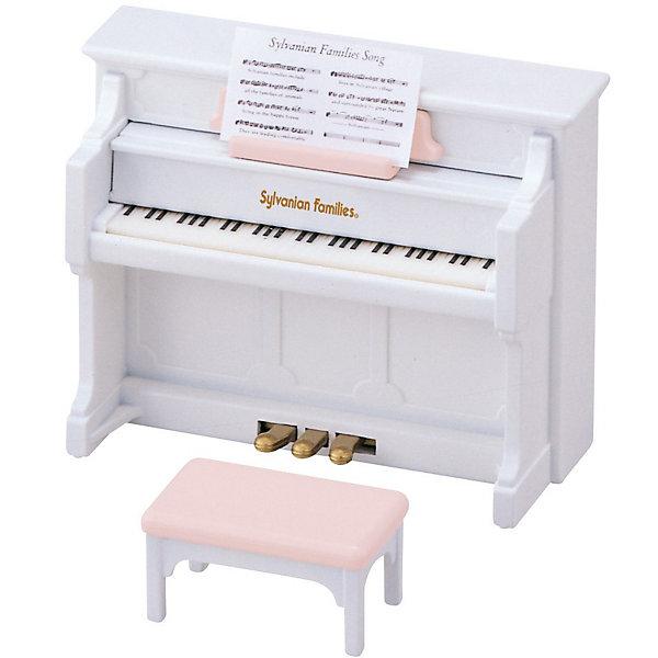 Набор Фортепиано Sylvanian FamiliesSylvanian Families<br>Фортепиано от Sylvanian Families (Сильваниан Фамилиес) . <br><br>Это фортепиано почти как настоящее! У него открывается крышка и нажимаются педали. Фортепиано подходит для всех зверей: маленьких, больших, пушистых и не очень. <br><br>Дополнительная информация:<br><br>В набор входят: фортепиано, ноты и стульчик.<br>Размер: 9 х 4 х 7 см.<br>Материал: пластмасса, бумага.<br>Ширина мм: 127; Глубина мм: 101; Высота мм: 63; Вес г: 104; Возраст от месяцев: 36; Возраст до месяцев: 72; Пол: Женский; Возраст: Детский; SKU: 2458898;