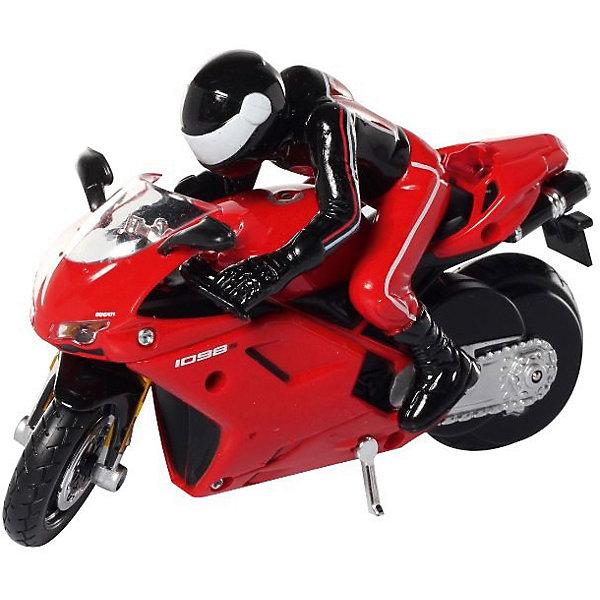 Мотоцикл Ducati 1098S на р/у, MaistoРадиоуправляемые машины<br>Модель представляет собой потрясающе точно выполненную копию настоящего классического мотоцикла Ducati 1098S. Мотоцикл работает при помощи инфракрасного пульта управления. Увеличение скорости контролируется кнопкой «турбо» на пульте, благодаря встроенному моховику в корпус мотоцикл удерживается в вертикальном положении.<br><br>Дополнительная информация:<br><br>- Управление: радиоуправляемая<br>- Питание: 4 батареи АА (не входят в комплект)<br>- Размеры машинки: 12 см<br>- Материал: пластик, металл<br><br>Мотоцикл Ducati 1098S на р/у, Maisto можно купить в нашем интернет-магазине.<br><br>Ширина мм: 70<br>Глубина мм: 262<br>Высота мм: 185<br>Вес г: 466<br>Возраст от месяцев: 36<br>Возраст до месяцев: 72<br>Пол: Мужской<br>Возраст: Детский<br>SKU: 2462969