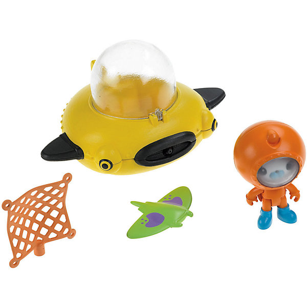 Подводный транспорт, Октонавты, Fisher PriceКоллекционные и игровые фигурки<br>Подводный транспорт, Октонавты, Fisher Price(Фишер Прайс)<br><br>Характеристики:<br><br>• игрушки изготовлены по мотивам мультфильма<br>• скат может менять цвет в теплой воде<br>• лодка выстреливает сетью<br>• в комплекте: лодка, капитан Барнаклс в скафандре, скат, сеть<br>• материал: пластик<br>• размер упаковки: 24х23х13 см<br>• вес: 360 грамм<br><br>Пожалуй, каждый любитель мультфильма про октонавтов мечтает почувствовать себя частью отважной команды. С набором от Фишер Прайс ваш ребенок сможет помочь капитану Барнаклсу организовать настоящую операцию по спасению ската. Храбрым спасателям придет на помощь подводная лодка, умеющая выстреливать сетью. Фигурка капитана легко передвигается в лодке. Сам скат тоже очень порадует малыша, меняя свой цвет в теплой воде. С таким набором юный спасатель всегда сможет провести время с пользой!<br><br>Подводный транспорт, Октонавты, Fisher Price(Фишер Прайс) вы можете купить в нашем интернет-магазине.<br><br>Ширина мм: 237<br>Глубина мм: 231<br>Высота мм: 127<br>Вес г: 63<br>Возраст от месяцев: 36<br>Возраст до месяцев: 60<br>Пол: Унисекс<br>Возраст: Детский<br>SKU: 2475178