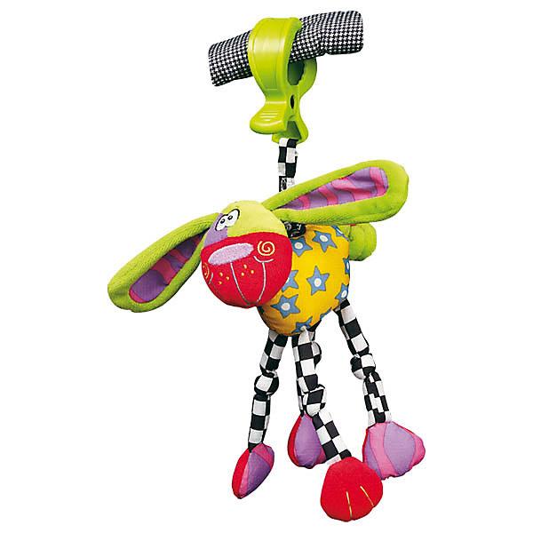 Игрушка-подвеска СобакаИгрушки для новорожденных<br>Игрушка-подвеска Собака<br><br>Характеристики:<br><br>• Материал: текстиль<br>• Возраст: от 0 месяцев<br>• Крепление: прищепка<br><br>Мягкая игрушка сделана из качественного и безопасного материала, который не вредит ребенку. В лапках и ушках собачки специальное наполнение, которое шуршит, если их трогать. Прищепка надежно крепится на коляску или за бортик кроватки. Если потянуть игрушку на себя, то возвращаясь к прищепке, она будет забавно вибрировать. Игрушка поможет малышу развлечься и развить моторику рук.<br><br>Игрушка-подвеска Собака можно купить в нашем интернет-магазине.<br><br>Ширина мм: 130<br>Глубина мм: 60<br>Высота мм: 210<br>Вес г: 121<br>Возраст от месяцев: 0<br>Возраст до месяцев: 36<br>Пол: Унисекс<br>Возраст: Детский<br>SKU: 2487973