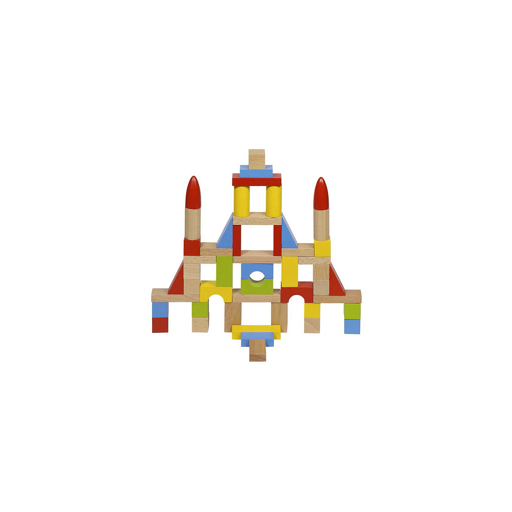 Строительные кубики, цветные, в мешке, 50 дет, goki