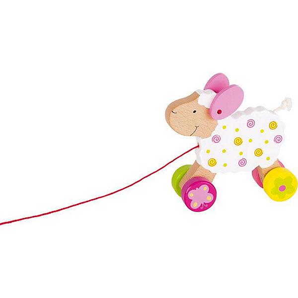 Каталка Овечка Сьюзи, gokiДеревянные игрушки<br>Чудесная деревянная каталка Овечка Сьюзи от goki (гоки) станет постоянным спутником Вашего малыша, с тех пор, как он станет на ноги. Каталка очень устойчива, поэтому она легко вписывается в повороты и обходит неровности. С ней с успехом можно путешествовать и на улице и по квартире. Благодаря колесикам с резиновой полосой, каталка не создает шума. Малыш может играть с каталкой, как с обычной игрушкой, ведь Овечка Сьюзи очень симпатичная, хвостик выполнен из веревочек, а сама игрушка полностью деревянная.<br><br>Дополнительная информация:<br><br>- Деревянная овечка на веревочке;<br>- Тихие колеса;<br>- Хорошо входит в повороты, благодаря повышенной устойчивости<br>- Яркий дизайн;<br>- Материал: дерево, безопасные краски;<br>- Размер: 17,5 х 14,5 см<br><br>Каталку Овечка Сьюзи, goki (гоки) можно купить в нашем интернет-магазине.<br><br>Ширина мм: 166<br>Глубина мм: 175<br>Высота мм: 71<br>Вес г: 332<br>Возраст от месяцев: 12<br>Возраст до месяцев: 24<br>Пол: Женский<br>Возраст: Детский<br>SKU: 2488933