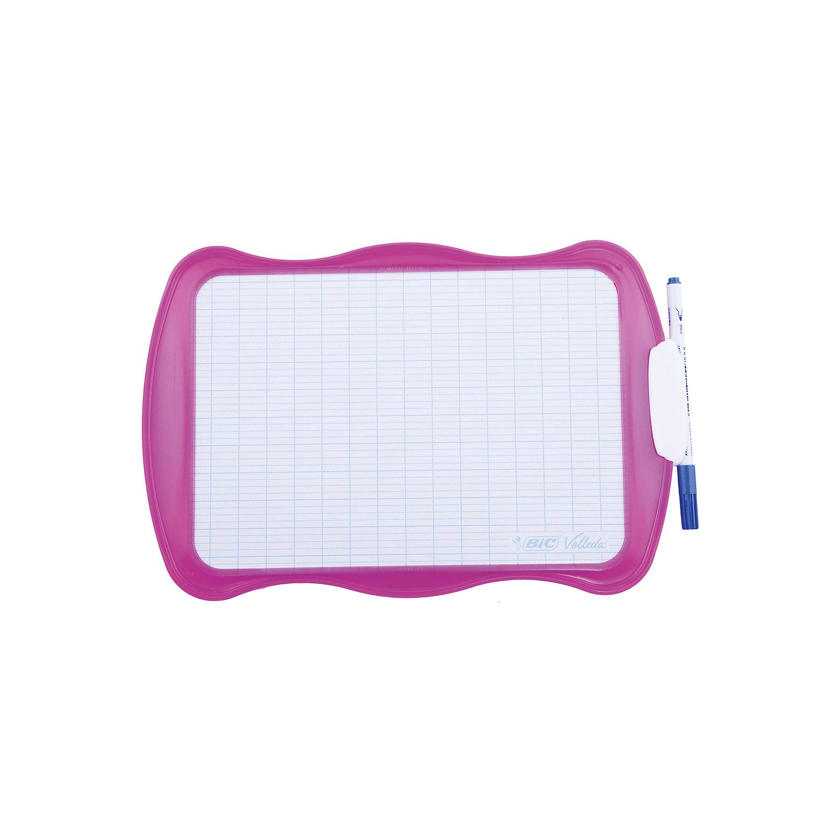 BIC Детская доска для рисования  ВелледаМебель<br>Детская доска для рисования  Велледа. Прекрасно подходит для использования дома, в школе и офисе. Сохраняет идеально белый цвет при использовании маркеров для доски.<br><br>Дополнительная информация:<br><br>В комплекте:<br>- специальный маркер<br>- губка<br><br>Размер: 20 х 30 см<br><br>Ширина мм: 130<br>Глубина мм: 240<br>Высота мм: 380<br>Вес г: 100<br>Возраст от месяцев: 36<br>Возраст до месяцев: 1188<br>Пол: Унисекс<br>Возраст: Детский<br>SKU: 2493068