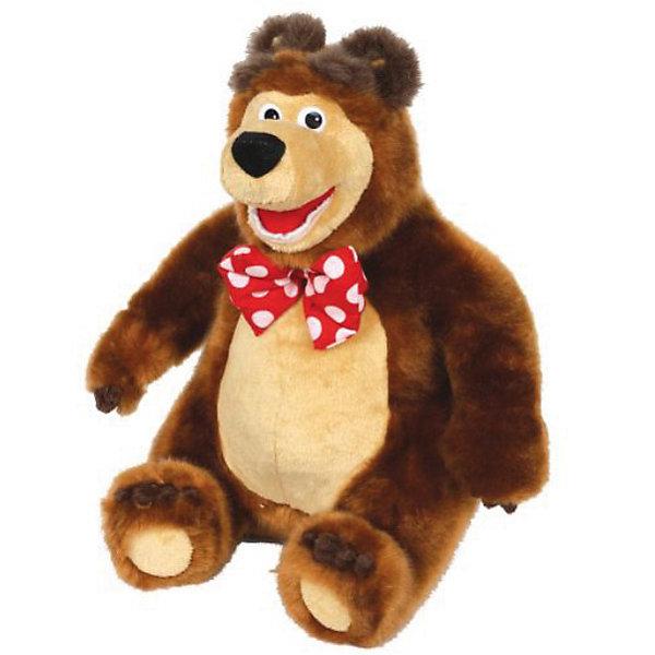 Мягкая игрушка  Мишка, 28 см., Маша и Медведь, МУЛЬТИ-ПУЛЬТИМягкие игрушки из мультфильмов<br>Мягкая игрушка Мишка, 28 см., Маша и Медведь - главный герой всеми любимого детского мультсериала Маша и Медведь. Умеет смеяться и поет песенку из мультфильма.<br><br>Мишка очень добрый, поэтому бесконечно прощает Маше всякие шалости. Готов играть, даже когда устал. Никогда  не бросает друзей в беде, всегда готов прийти на помощь.<br><br>Игрушка развивает фантазию, воображение, цветовое и звуковое восприятие, моторику рук.<br><br>Дополнительная информация:<br><br>- Высота: 28 см.<br>- Озвученная руссифицированная игрушка.<br>- Материалы: цветной плюш, текстиль, пластик.<br><br>Мягкую игрушка Мишка, 28 см., Маша и Медведь можно купить в нашем интернет-магазине.<br><br>Ширина мм: 160<br>Глубина мм: 240<br>Высота мм: 300<br>Вес г: 330<br>Возраст от месяцев: 36<br>Возраст до месяцев: 2147483647<br>Пол: Унисекс<br>Возраст: Детский<br>SKU: 2497474