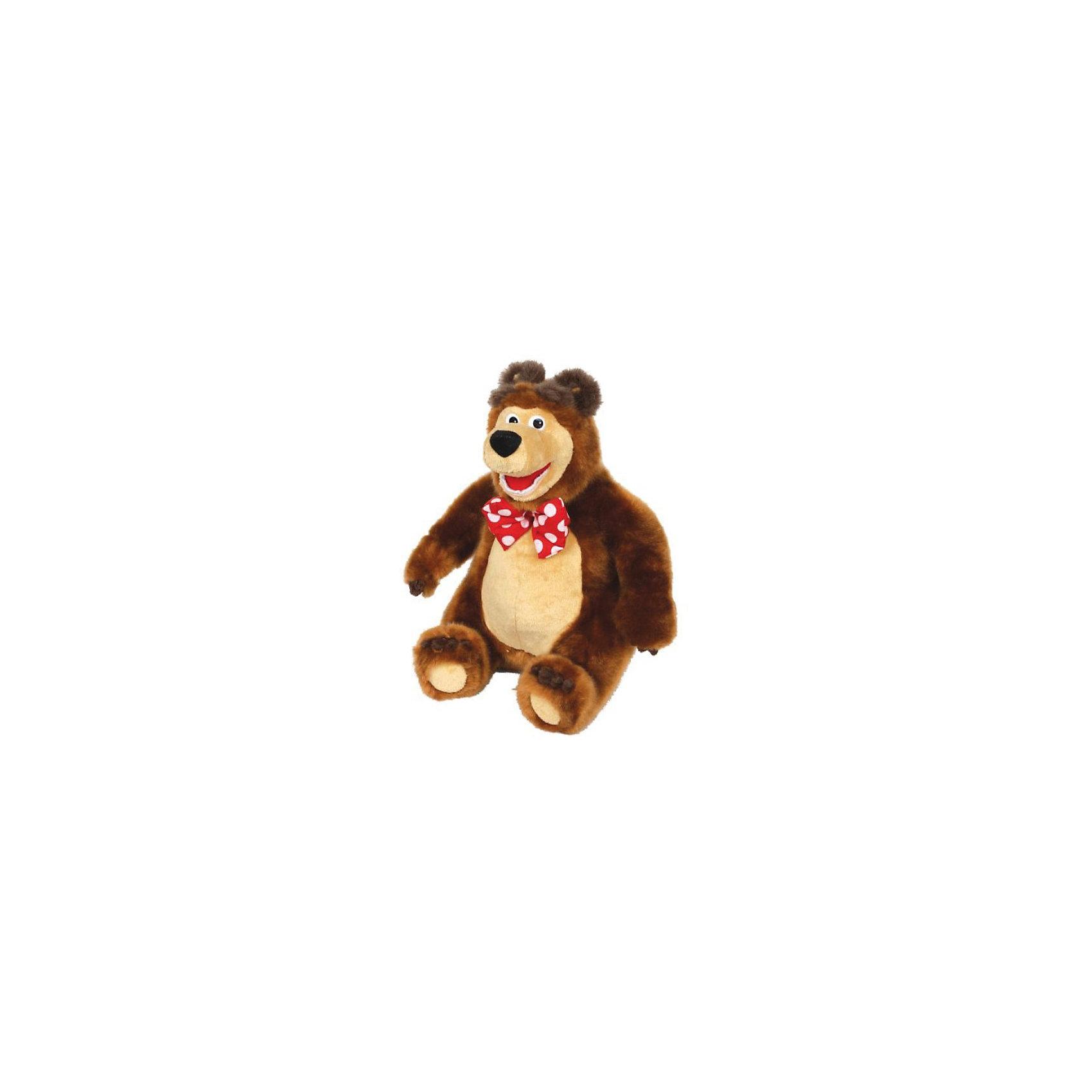 Мягкая игрушка  Мишка, 28 см., Маша и Медведь, МУЛЬТИ-ПУЛЬТИЛюбимые герои<br>Мягкая игрушка Мишка, 28 см., Маша и Медведь - главный герой всеми любимого детского мультсериала Маша и Медведь. Умеет смеяться и поет песенку из мультфильма.<br><br>Мишка очень добрый, поэтому бесконечно прощает Маше всякие шалости. Готов играть, даже когда устал. Никогда  не бросает друзей в беде, всегда готов прийти на помощь.<br><br>Игрушка развивает фантазию, воображение, цветовое и звуковое восприятие, моторику рук.<br><br>Дополнительная информация:<br><br>- Высота: 28 см.<br>- Озвученная руссифицированная игрушка.<br>- Материалы: цветной плюш, текстиль, пластик.<br><br>Мягкую игрушка Мишка, 28 см., Маша и Медведь можно купить в нашем интернет-магазине.<br><br>Ширина мм: 160<br>Глубина мм: 240<br>Высота мм: 300<br>Вес г: 330<br>Возраст от месяцев: 36<br>Возраст до месяцев: 2147483647<br>Пол: Унисекс<br>Возраст: Детский<br>SKU: 2497474