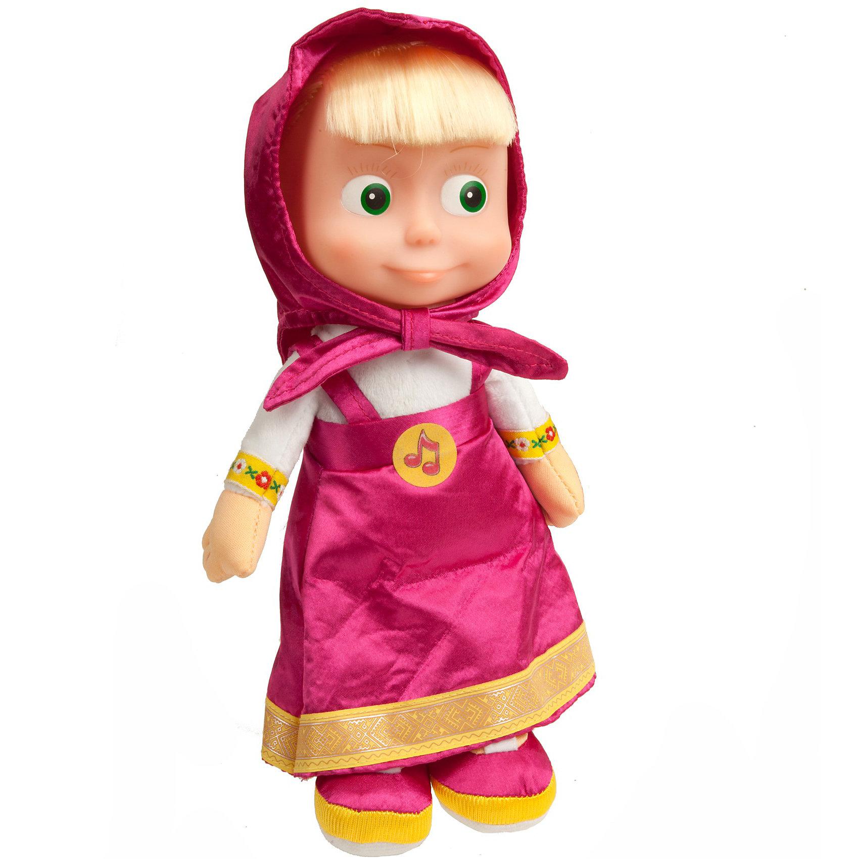 МУЛЬТИ-ПУЛЬТИ Мягкая кукла Маша, 29 см, Маша и Медведь, МУЛЬТИ-ПУЛЬТИ магниты маша и медведь купить игрушку