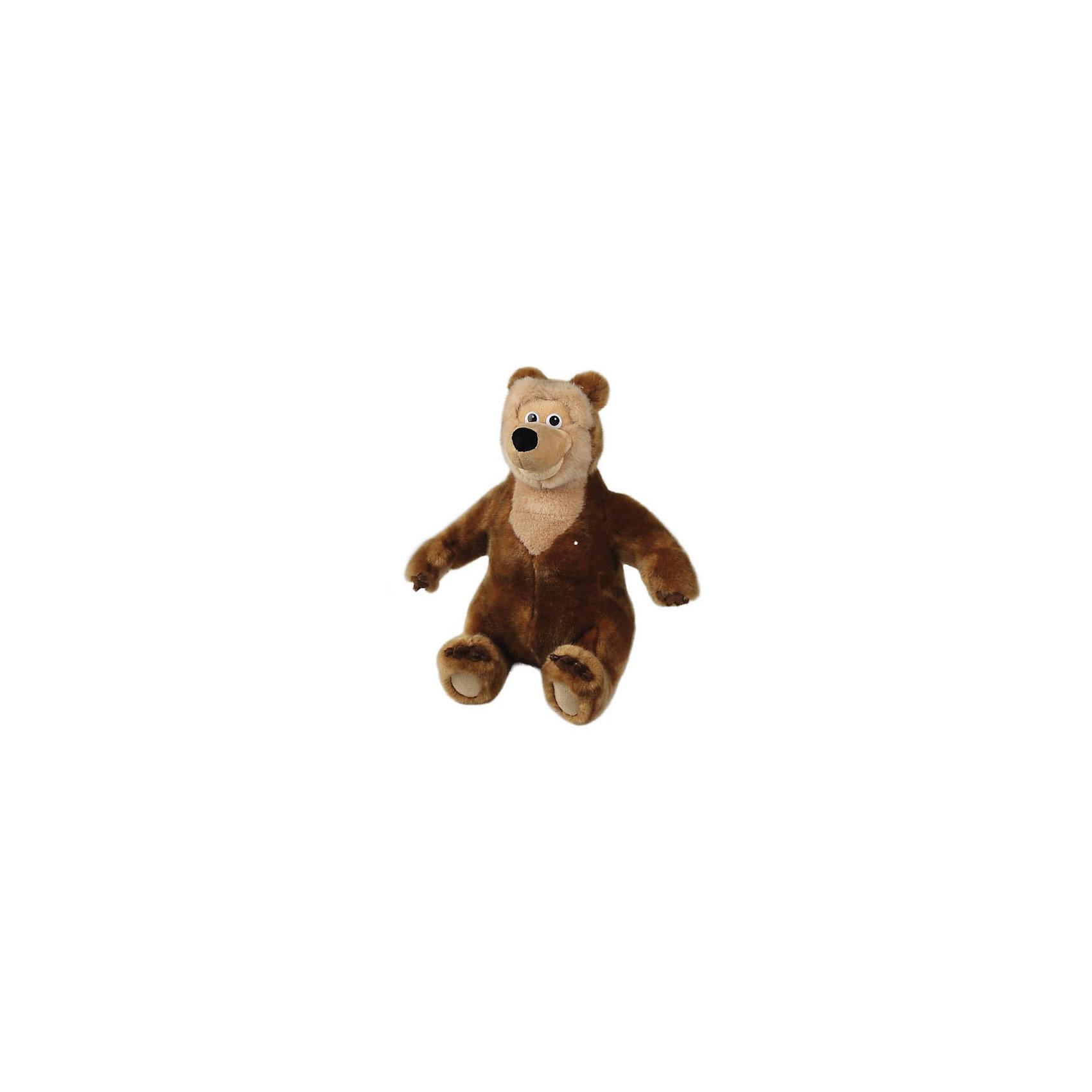 Мягкая игрушка Медведица, 28 см, со звуком, Маша и Медведь, МУЛЬТИ-ПУЛЬТИМУЛЬТИ-ПУЛЬТИ Мягкая игрушка Медведица (Маша и Медведь) , 28 см. - большая, красивая медведица, подруга главного героя нашумевшего детского мультсериала Маша и Медведь. Умеет смеяться при нажатии на лапку. Развеселит вас заразительным смехом!<br><br>Медведица добрая и романтичная, дружит с Машей и Медведем.  За ухом у медведицы красивый цветок, и в лапке она держит небольшую красную сумочку-мешочек.<br><br>Дополнительная информация:<br><br>- Высота: 28 см.<br>- Озвученная руссифицированная игрушка.<br>- Материалы: цветной плюш, текстиль, пластик.<br><br>Игрушка развивает фантазию, воображение, цветовое и звуковое восприятие, моторику рук.<br><br>Мягкую игрушку Медведица, 28 см.,  Маша и Медведь, МУЛЬТИ-ПУЛЬТИ можно купить в нашем магазине.<br><br>Ширина мм: 180<br>Глубина мм: 260<br>Высота мм: 300<br>Вес г: 330<br>Возраст от месяцев: 60<br>Возраст до месяцев: 2147483647<br>Пол: Унисекс<br>Возраст: Детский<br>SKU: 2497476