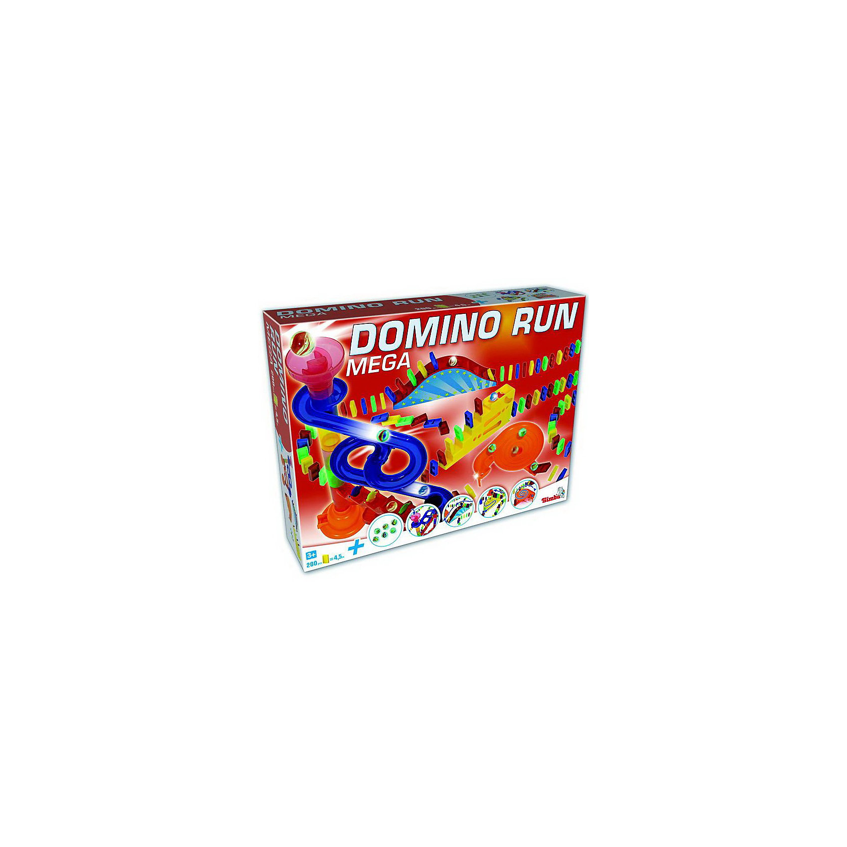 Мега набор домино, 200 деталей, SimbaМногофункциональный игровой набор домино. Набор предусматривает множество разных игр. Это не только классическое домино, но и конструктор для сборки различных сложных построек и конструкций. В наборе: 200 разноцветных костяшек домино, 6 прозрачных шариков, детали для сборки конструктора-лабиринта с трубочками, воронка, горка, лесенка.<br><br>Дополнительная информация: <br><br>- Материал: пластмасса <br>- Размер упаковки: 10 х 4 х 63,5 см. <br>- Вес с упаковкой: 1,2 кг.<br><br>Увлекательная игра для развития логического мышления и пространственного воображения<br><br>Купить домино можно в нашем магазине<br><br>Ширина мм: 460<br>Глубина мм: 100<br>Высота мм: 350<br>Вес г: 1331<br>Возраст от месяцев: 36<br>Возраст до месяцев: 1188<br>Пол: Унисекс<br>Возраст: Детский<br>SKU: 2497482