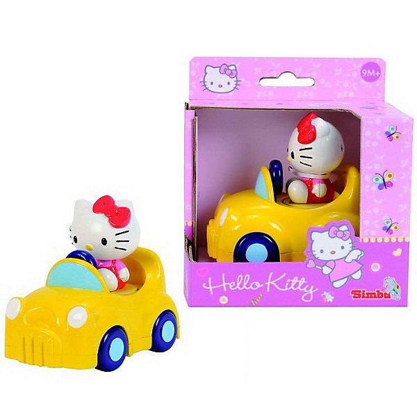 Simba                 Машинка Hello KittyИгрушки<br>Яркая желтая машинка с милой кошечкой из серии Hello Kitty При нажатии на котенка машинка начинает двигаться. Игрушка с крупными скругленными деталями безопасна для самых маленьких.<br><br>Дополнительная информация: <br><br>- Размер игрушки:  11 см.<br>- Размер упаковки: 19,8 х 5,5 х 15 см.<br><br>Эта симпатичная машинка доставит много радости самым маленьким<br>Купить машинку можно в нашем магазине<br>Ширина мм: 140; Глубина мм: 90; Высота мм: 120; Вес г: 186; Возраст от месяцев: 12; Возраст до месяцев: 60; Пол: Унисекс; Возраст: Детский; SKU: 2497488;