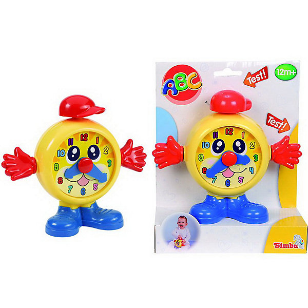Часики 19 см, SimbaРазвивающие центры<br>Веселые часы-будильник сделают пробуждение малыша веселым и радостным, а также научат пользоваться часами. Ручки и стрелочки будильника крутятся, а при нажатии на шапочку издается веселый звук.<br><br>Дополнительная информация:<br><br>- Материал пластмасса.<br>- Размер игрушки: 19 см.<br>- Размер упаковки: 19 х 7 х 23,6 см.<br><br>Часики 19 см, Simba (Симба) можно в нашем магазине.<br><br>Ширина мм: 190<br>Глубина мм: 70<br>Высота мм: 240<br>Вес г: 268<br>Возраст от месяцев: 12<br>Возраст до месяцев: 60<br>Пол: Унисекс<br>Возраст: Детский<br>SKU: 2497501