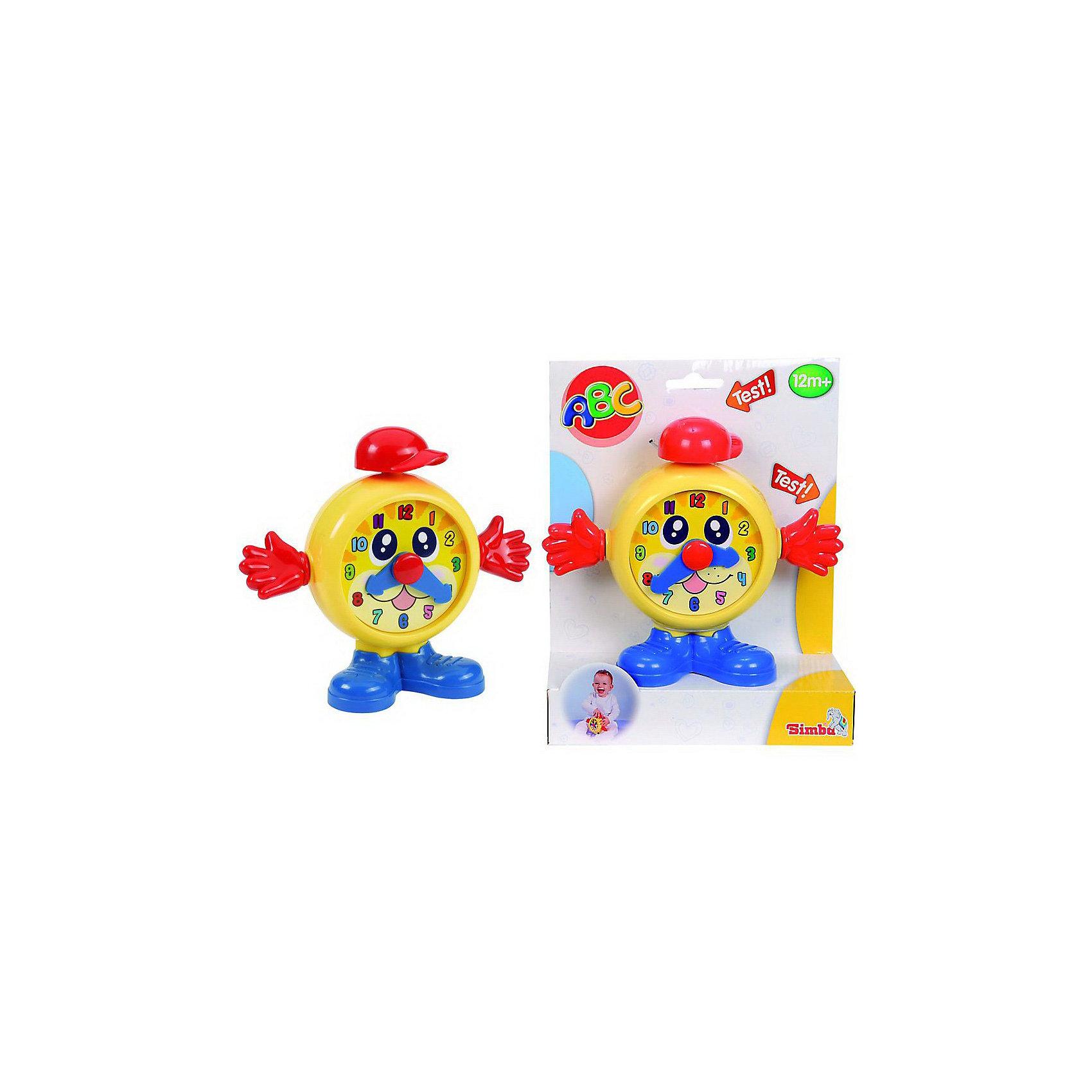 Часики 19 см, SimbaВеселые часы-будильник сделают пробуждение малыша веселым и радостным, а также научат пользоваться часами. Ручки и стрелочки будильника крутятся, а при нажатии на шапочку издается веселый звук.<br><br>Дополнительная информация:<br><br>- Материал пластмасса.<br>- Размер игрушки: 19 см.<br>- Размер упаковки: 19 х 7 х 23,6 см.<br><br>Часики 19 см, Simba (Симба) можно в нашем магазине.<br><br>Ширина мм: 190<br>Глубина мм: 70<br>Высота мм: 240<br>Вес г: 268<br>Возраст от месяцев: 12<br>Возраст до месяцев: 60<br>Пол: Унисекс<br>Возраст: Детский<br>SKU: 2497501