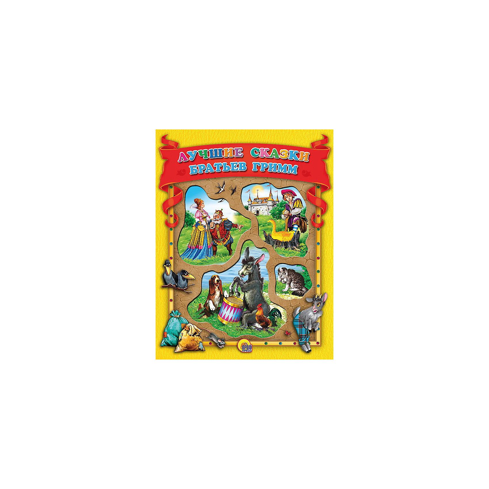 Лучшие сказки братьев ГриммКоллекционная книга с вырубкой. Самые первые и самые любимые детьми многих поколений сказки, потешки, стихи с яркими веселыми иллюстрациями - отличный подарок малышу.<br><br>Данный сборник составили наиболее известные произведения  лучших сказкок братьев Гримм: <br>Белоснежка и семь гномов<br>Бременские музыканты<br>Волк и семеро козлят<br>Золотой гусь<br>Храбрый портняжка<br>Король Дроздобород<br>Гензель и Гретель<br>Рапунцель<br><br>Трогательные и добрые, эти сказки не оставят равнодушными ни детей, ни их родителей.<br><br>Материал: мелованная бумага. <br>Книга содержит 144 стр.<br><br>Ширина мм: 205<br>Глубина мм: 13<br>Высота мм: 265<br>Вес г: 648<br>Возраст от месяцев: 72<br>Возраст до месяцев: 96<br>Пол: Унисекс<br>Возраст: Детский<br>SKU: 2499686