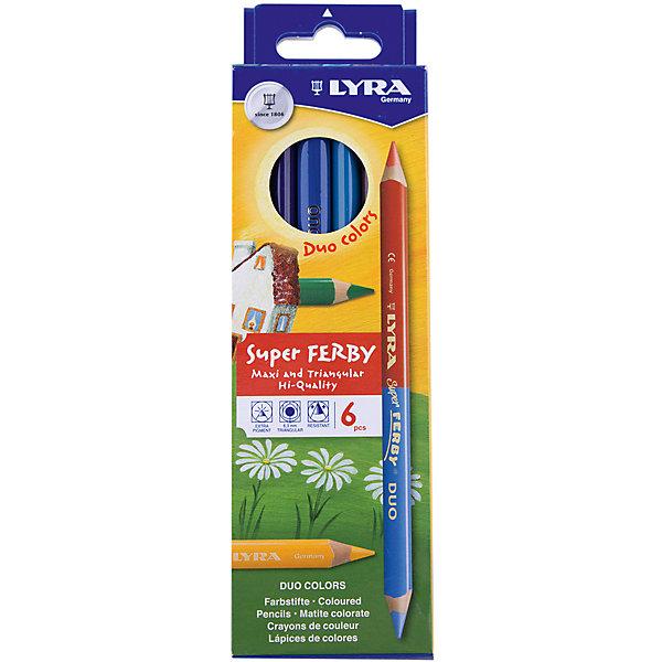 Высокопигментные цветные двусторонние карандаши, 6 шт=12 цветов.Цветные<br>Высокопигментные цветные двусторонние карандаши, 6 шт=12 цв. в упаковке. Эргономичная треугольная форма. Длина карандаша - 175 мм, диаметр грифеля 6,25 мм. Произведены из натуральной сертифицированной древесины, лакированные в цвет грифеля. Ударопрочные.<br>Ширина мм: 201; Глубина мм: 12; Высота мм: 68; Вес г: 92; Возраст от месяцев: 72; Возраст до месяцев: 192; Пол: Унисекс; Возраст: Детский; SKU: 2502128;