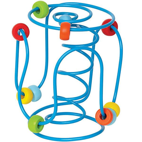 Развивающая игрушка-лабиринтДеревянные игрушки<br>Передвигая бусинки по лабиринту, малыш тренирует мелкую моторику, восприятие цветов, координацию пальчиков<br>Сортируя бусинки по цвету, ребенок сможет развить логическое и пространственное мышление<br>Бусинки крепко держатся на проволоке, острые углы у лабиринта отсутствуют, что помогает избежать травмы<br>Игрушку удобно брать в дорогу или путешествие, она надолго займет малыша<br>От 6 месяцев<br>Награды: <br>Parents choice (США)<br>USA Today (США) – лучшая игрушка в путешествие<br>NAPPA (Канадская ассоциация детского ритейла)<br>Ширина мм: 185; Глубина мм: 121; Высота мм: 119; Вес г: 295; Возраст от месяцев: 6; Возраст до месяцев: 24; Пол: Унисекс; Возраст: Детский; SKU: 2503727;