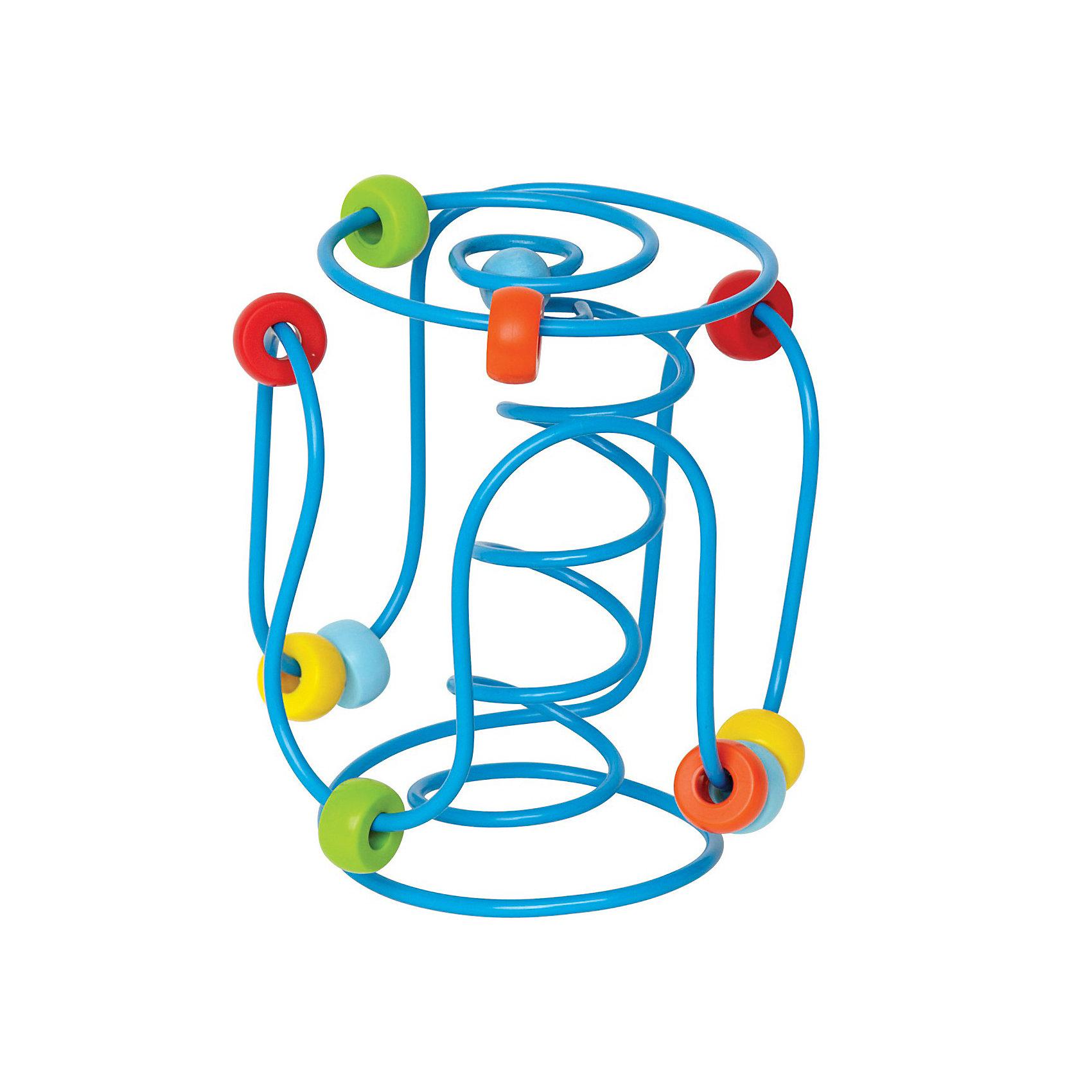 Развивающая игрушка-лабиринтПередвигая бусинки по лабиринту, малыш тренирует мелкую моторику, восприятие цветов, координацию пальчиков<br>Сортируя бусинки по цвету, ребенок сможет развить логическое и пространственное мышление<br>Бусинки крепко держатся на проволоке, острые углы у лабиринта отсутствуют, что помогает избежать травмы<br>Игрушку удобно брать в дорогу или путешествие, она надолго займет малыша<br>От 6 месяцев<br>Награды: <br>Parents choice (США)<br>USA Today (США) – лучшая игрушка в путешествие<br>NAPPA (Канадская ассоциация детского ритейла)<br><br>Ширина мм: 185<br>Глубина мм: 121<br>Высота мм: 119<br>Вес г: 295<br>Возраст от месяцев: 6<br>Возраст до месяцев: 24<br>Пол: Унисекс<br>Возраст: Детский<br>SKU: 2503727