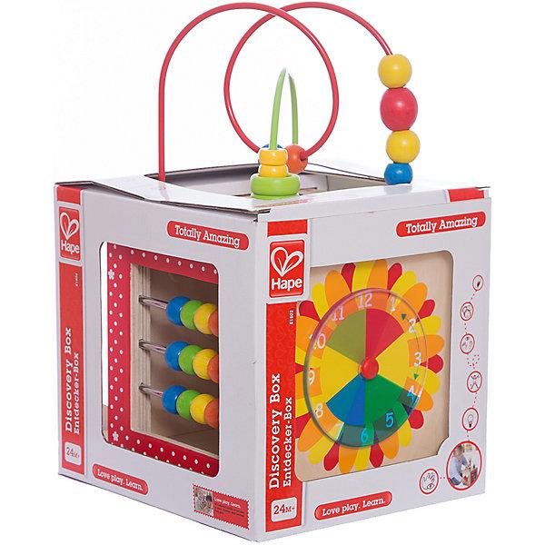 Активный куб-лабиринт, HapeРазвивающие игрушки<br>Спираль-лабиринт помогает развивать мелкую моторику и восприятие цветов. Разноцветные счеты помогут малышу научиться считать.<br>Циферблат в форме цветка научит малыша определять время.<br>Зеркальце в форме собачки повеселит малыша, научит отличать себя от других.<br>Панель с рыбкой поможет развить малышу мелкую моторику и координацию пальчиков.<br><br>Дополнительная информация:<br><br>- Материал: натуральное дерево, металл.<br>- Размер игрушки: 17.8 х 17.8 х 33.2 см.<br>- Размер упаковки: 23,5 х 21 х 35 см<br><br>Активный куб-лабиринт, Hape (Хапе) можно купить в нашем магазине.<br><br>Ширина мм: 210<br>Глубина мм: 235<br>Высота мм: 215<br>Вес г: 2900<br>Возраст от месяцев: 24<br>Возраст до месяцев: 48<br>Пол: Унисекс<br>Возраст: Детский<br>SKU: 2503728