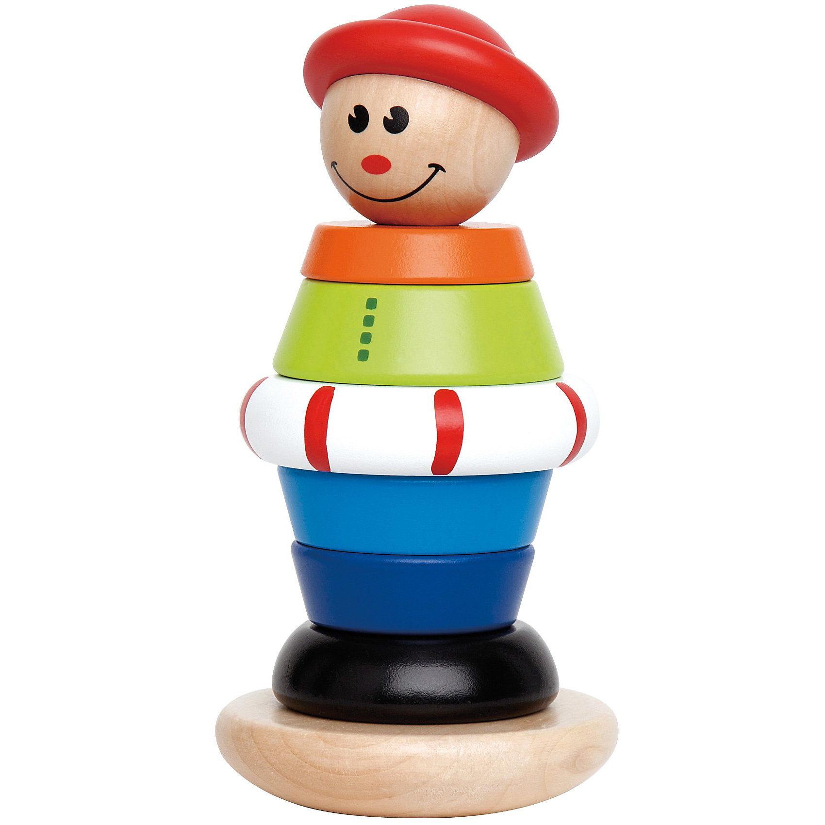 Деревянная игрушка Пирамидка, HapeЭта веселая пирамидка в виде клоуна поможет малышу научиться различать не только формы, но и цвета. Во время игры развивается концентрация и моторика рук ребенка. <br>Детали пирамидки выполнены из экологичного дерева, не имеют острых краев и углов.<br><br>Дополнительная информация:<br><br>- Возраст: от 12 месяцев<br>- Материал: дерево<br>- Размеры: 18х6х17 см<br>- Вес: 0.9 кг<br><br>Деревянную игрушку Пирамидка, Hape можно купить в нашем интернет-магазине.<br><br>Ширина мм: 189<br>Глубина мм: 91<br>Высота мм: 93<br>Вес г: 358<br>Возраст от месяцев: 12<br>Возраст до месяцев: 36<br>Пол: Унисекс<br>Возраст: Детский<br>SKU: 2503730