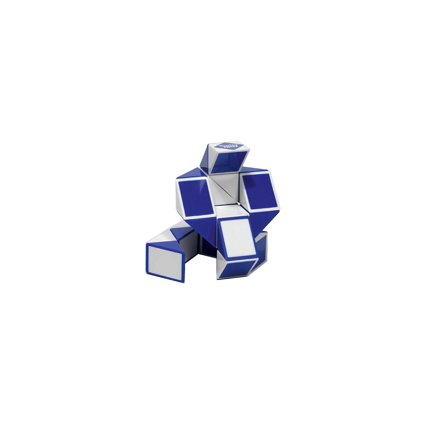 Головоломка Змейка Рубика,RubiksГоловоломки<br>Rubiks Змейка Рубика - еще одно творение профессора Рубика, причем не менее популярное, чем Кубик Рубика. <br><br>Змейка сделана из 24 одинаковых треугольников, соединенных между собой.<br><br>Несложный механизм соединения позволяет вращать треугольники между собой таким образом, что в результате может получиться Лебедь или Летучая мышь, или Мяч, или Собака, или.. да все что угодно, ведь эта игрушка собирается в более чем 50 забавных форм. <br>Здесь нет верных и неверных ответов - все зависит от Вашей фантазии! <br>Кстати, по статистике продаж Змейка уверенно занимает второе место после кубика Рубика, немногим ему уступая!<br> <br>В качестве развивающей игрушки, Змейка тренирует воображение, а также умение видеть образы и формы. Эта головоломка вас обязательно очарует!<br><br><br>Дополнительная информация:<br><br>- На странице Инструкции смотрите ссылку на сайт производителя с 3х-мерными моделями множества форм, в которые можно сложить Змейку.<br>- Сложность: 1/5<br>- Размер игрушки: 43,1 x 2,54 х 1,27 см<br>- Тип упаковки: 6-гранник из прозрачного пластика.<br><br>Ширина мм: 120<br>Глубина мм: 120<br>Высота мм: 160<br>Вес г: 210<br>Возраст от месяцев: 60<br>Возраст до месяцев: 1188<br>Пол: Унисекс<br>Возраст: Детский<br>SKU: 2504419