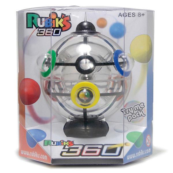 Головоломка Шарик Рубика, RubiksГоловоломки Кубик Рубика<br>Rubiks Шарик Рубика - настоящий шедевр от профессора Рубика (он же Шар Рубика, Рубикс 360 или Сфера Рубика). <br><br>Эта новая головоломка от Рубикс ничем не похожа на кубик Рубика: она круглая, а не квадратная, прозрачная, а не разноцветная. Это новый Рубикс, это Шарик Рубика!<br><br>    Шесть цветных шариков<br>    Три прозрачных сферы<br>    И.. всего одно решение!<br><br>Разгадать тайну Шарика будет не просто. На этот раз профессор Эрно Рубик создал головоломку абсолютно другого измерения: вместо ставших кллассикой кубических элементов, у Шарика -  3 подвижных сферы.  Для решения понадобится не только логика, но и концентрация, ловкость, сноровка и контроль над гравитацией!<br><br>Задача: расположить цветные шарики, находящиеся внутри самой маленькой прозрачной сферы в лунки соответствующего цвета на самой большой, внешней сфере. Сложность в том, что между внутренней и внешней прозрачной сферой крутится средняя по размеру сфера, у которой всего 2 отверстия-выхода, через которые и нужно провести цветные шарики в процессе их пути наружу, в цветные лунки внешей сферы!<br>Ширина мм: 140; Глубина мм: 120; Высота мм: 165; Вес г: 280; Возраст от месяцев: 72; Возраст до месяцев: 1188; Пол: Унисекс; Возраст: Детский; SKU: 2504420;