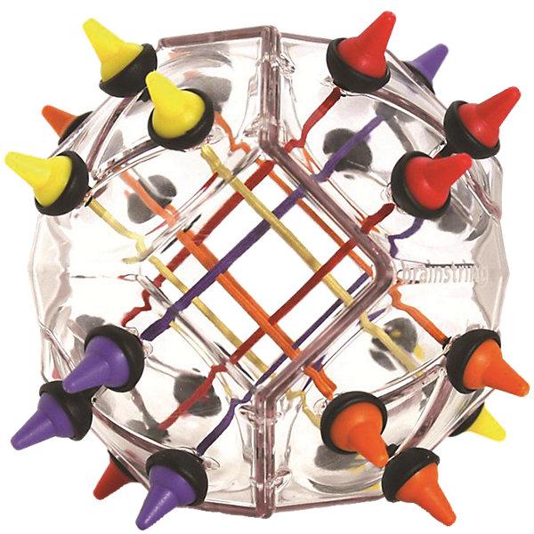 Головоломка  Узел 2.0, Recent ToysГоловоломки - лабиринты<br>Recent Toys УЗЕЛ 2.0: Психологи обнаружили, что для человека естественно и даже полезно распутывать узлы. Возможно, поэтому головоломка УЗЕЛ голландской компании Recent Toys по-праву считается одной из самых заметных и интересных среди всех появившихся в последнее время головоломок. <br><br>Чтобы успешно справиться с УЗЛОМ, пригодятся интуиция и выдержка, понадобятся внимательность и точный расчет. Удача и опыт помогут найти красивое и быстрое решение!<br><br>У УЗЛА 2.0 много загадок: тут нужно разобраться с 12 веревочками 4х цветов. Яркий и интересный дизайн помогает получить настоящее удовольствие от игры, а удачная подарочная упаковка, разработанная для УЗЛА, не только бережно сохраняет головоломку, но и украшает ее.<br><br>УЗЕЛ 2.0 или Brainstring Advanced был создан при непосредственном участии Oskar van Deventer, знаменитого изобретателя самых необычных головоломок. Этот голландец без преувеличения прославился на весь мир не только количеством изобретений, но и тем, что, как правило, его головоломки настолько тщательно продуманы, что усовершенствовать или что-то изменить в них уже никто не берется.<br><br>Итак, правила игры все те же: Необходимо переместить цветные фишки с одной стороны головоломки на другую, при этом избежав запутывание нитей. Более продвинутые игроки могут попытаться собрать красивый (симметричный, фигурный и пр.) узел или даже узор из нитей, сохранив при этом основное правило головоломки - 1 цвет на 1 стороне. См картинки.<br><br>Более простой вариант игры (для начинающих) - переместить только 1 цветную нить, а не все 3. Фактически, это значит поменять местами две нити разных цветов, т.к. для перемещения 1 нити понадобится освободить для нее место, а нить которую для этого придется убрать нужно будет разместить на месте первой нити.<br><br>Золотая награда за Восхитительный продукт, развивающий мышление и обучающий в игровой форме от Tillywig Toy Awards (USA).<br><br>Ширина мм: 172